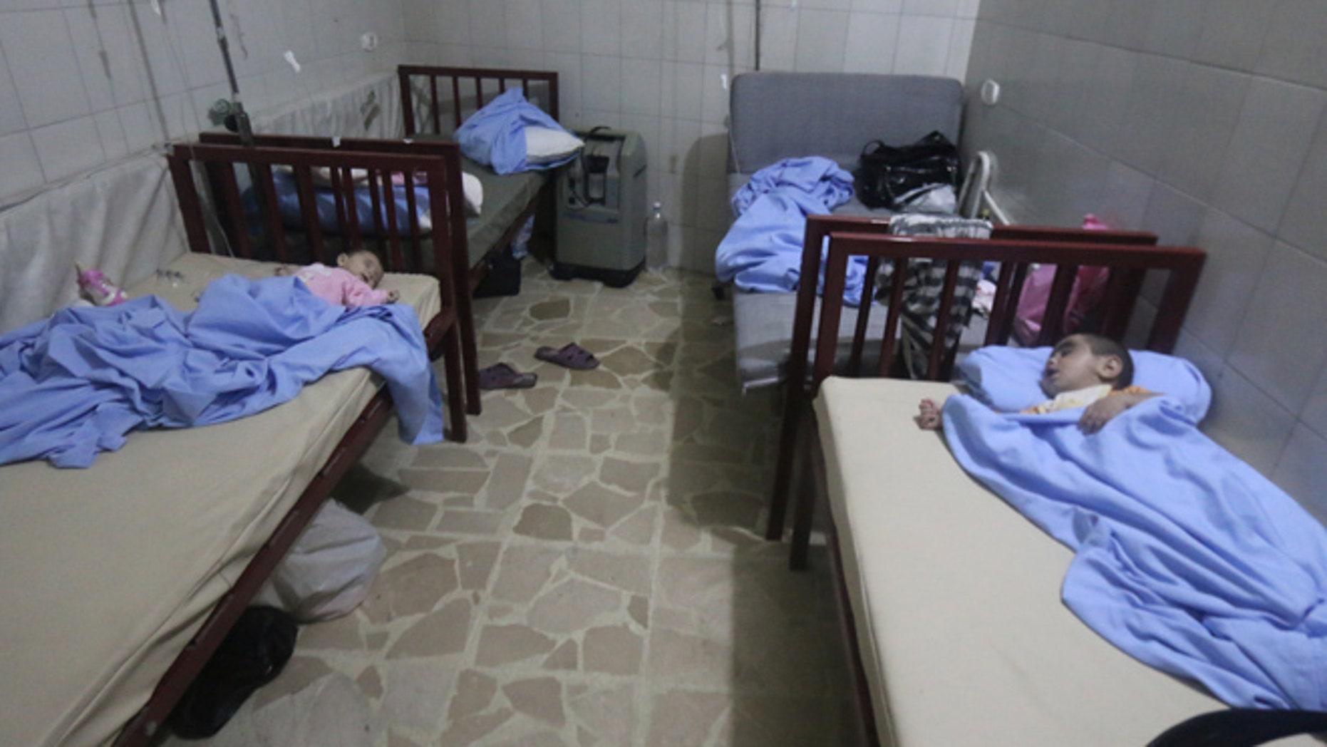 Babies seen in Aleppo