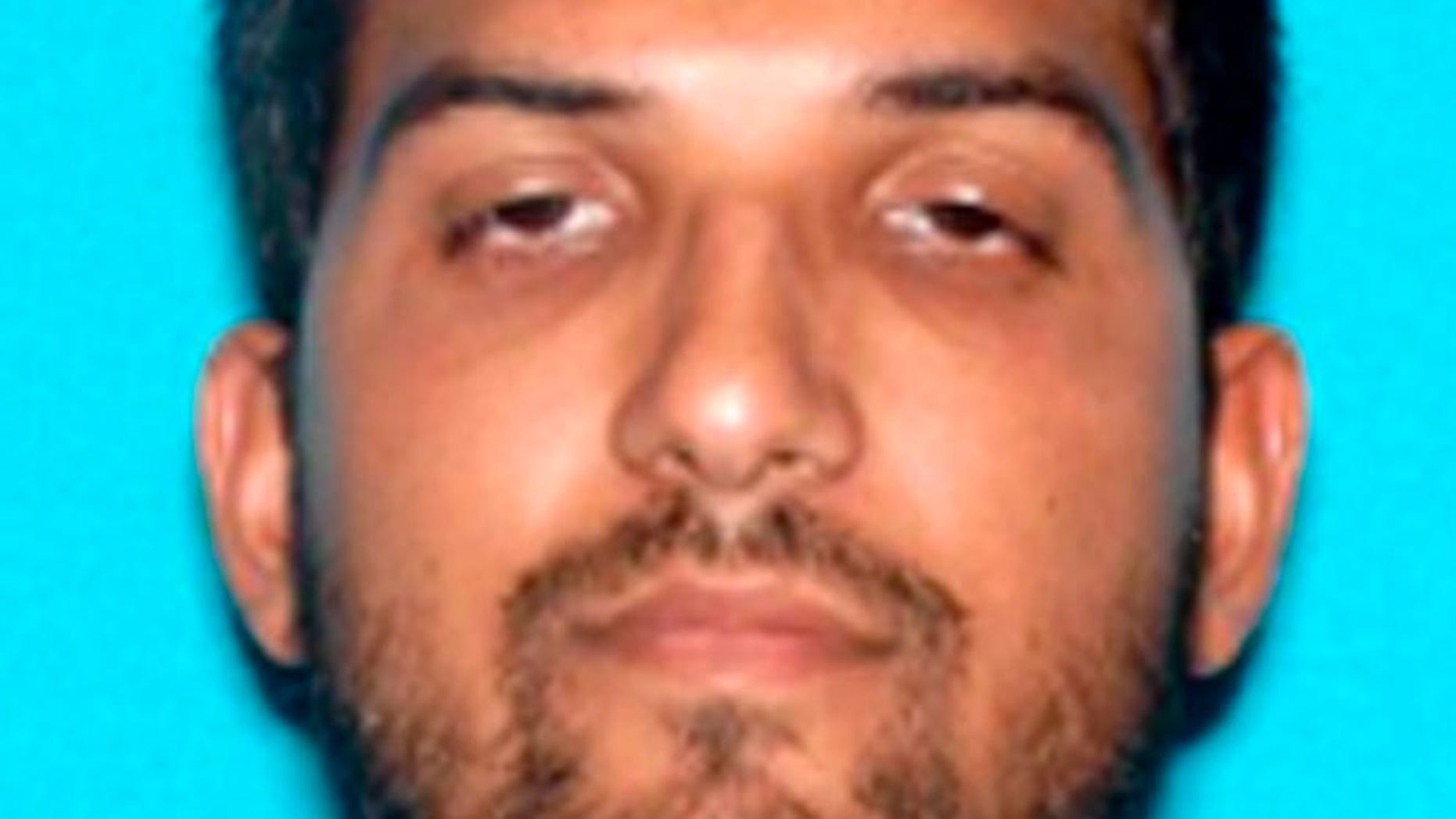 Syed Rizwan Farook is pictured in this undated handout photo provided by the FBI, December 4, 2015. U.S.-born husband, Syed Rizwan Farook