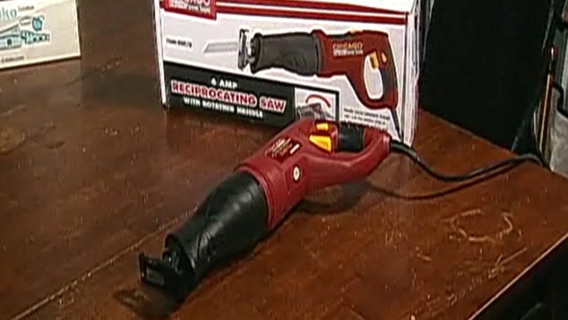 """Northwestern University professor John Michael Bailey allowed a guest lecturer to narrate the use of a sex toy -- referred to as a """"f---saw"""" -- on a woman who was not a Northwestern student during a Feb. 21 after-class presentation. The motorized device, seen here, was equipped with a phallus during the demonstration. (MyFoxChicago.com)"""