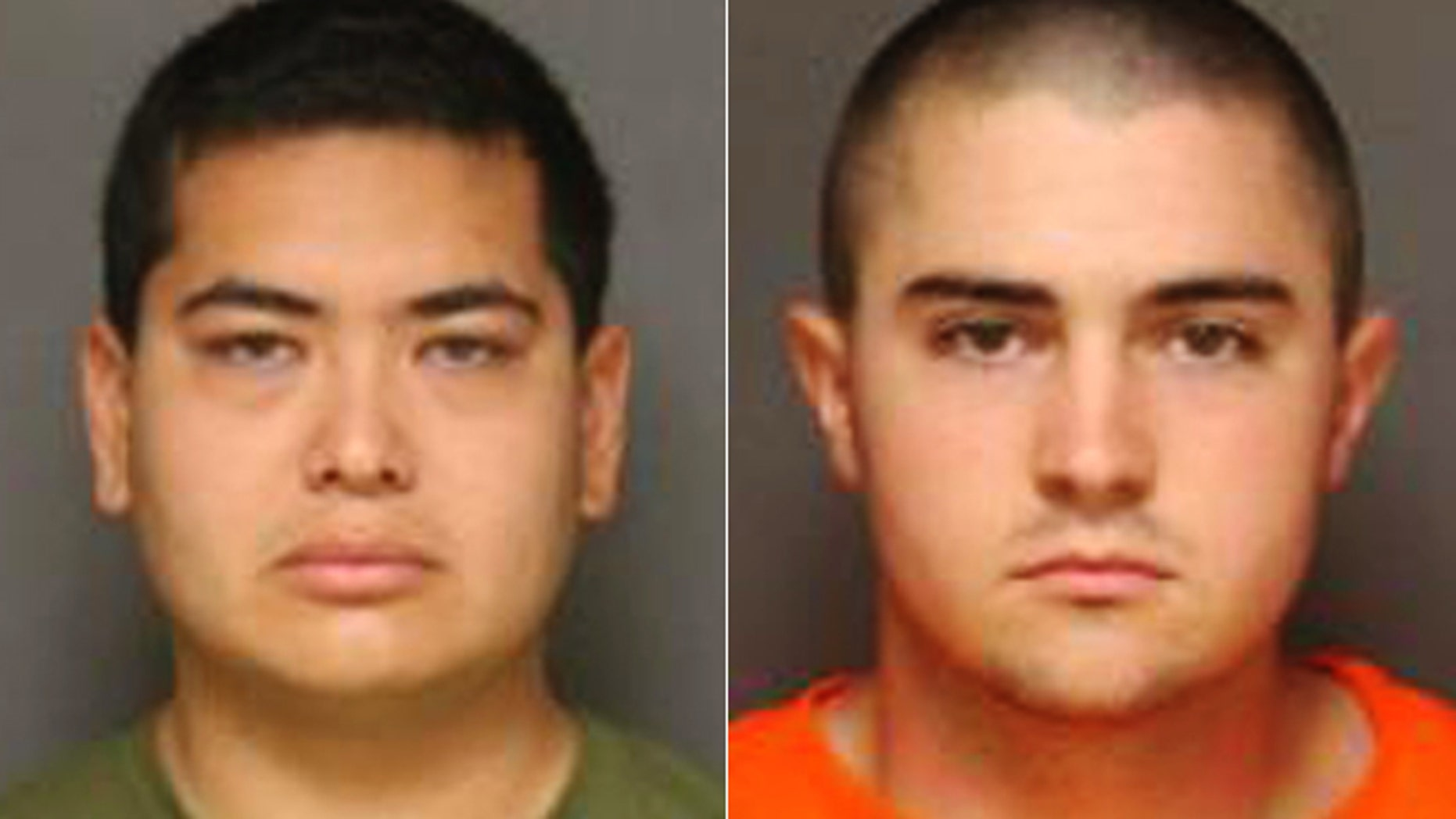 Police arrested Frank Felix, left, and Joshua Acosta in connection with the killings.
