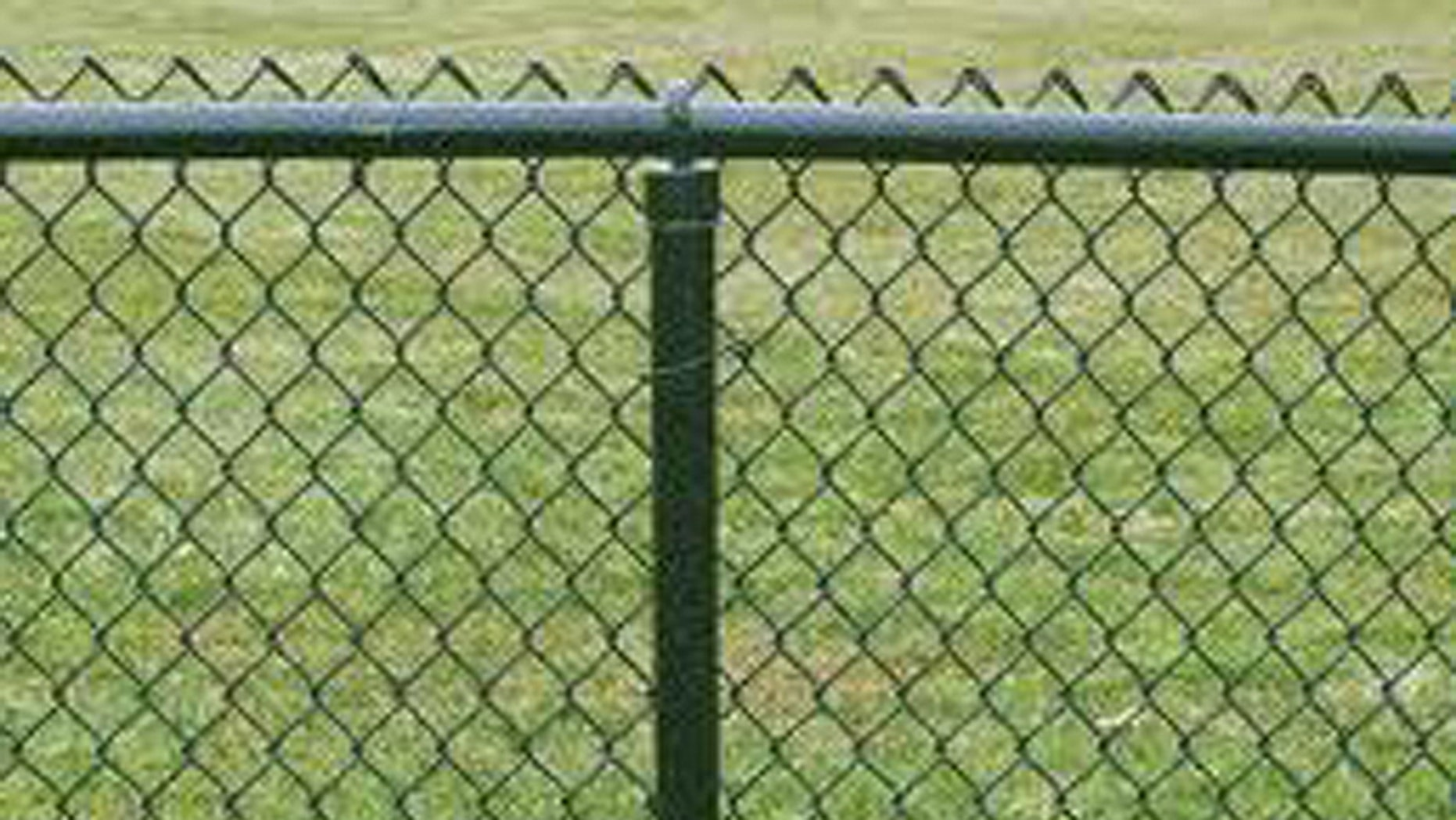 A chain link fence separates the backyards of Chris Smith and the registered sex offender who propositioned his 10-year-old daughter.