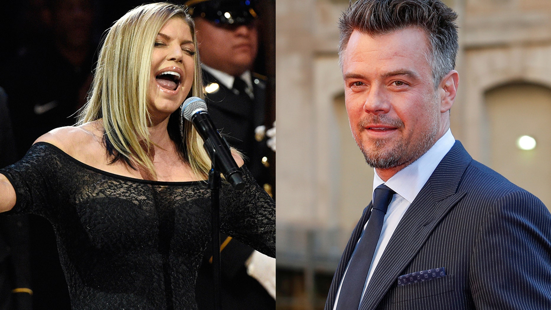 Josh Duhamel, right, defended his ex-wife Fergie's sultry performance of the national anthem.