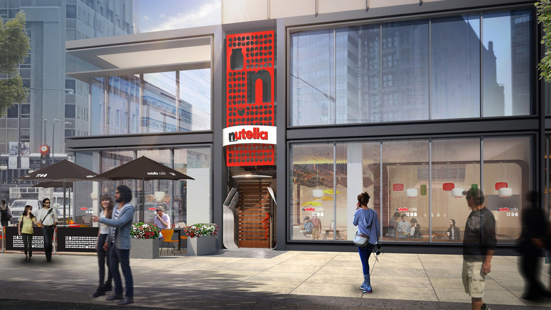 The Nutella café will open this month in Chicago.