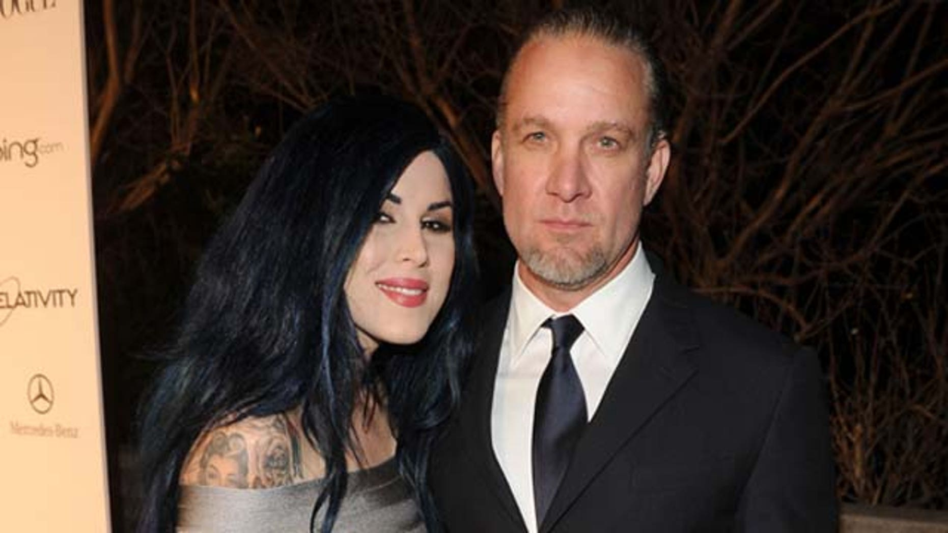 Jan. 15, 2011: TV Personalities Kat Von D and Jesse James attend the Art Of Elysium 'Heaven' Gala held at the California Science Center in Los Angeles, Calif.