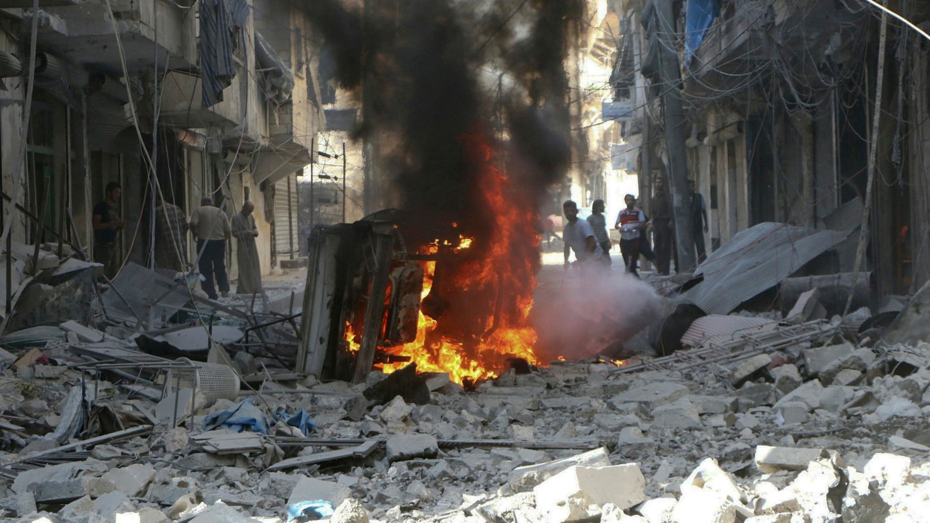A suicide bomber targeted a wedding in Syria