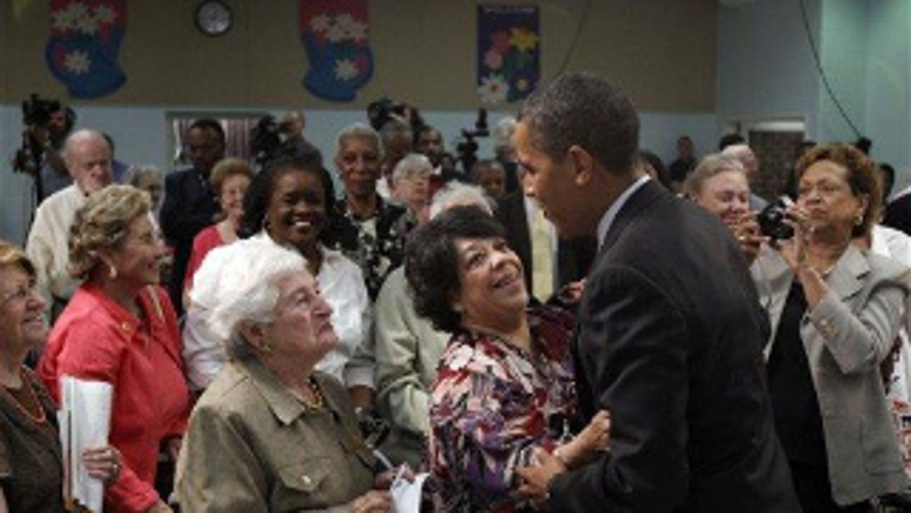 President Obama selling the health care changes to Maryland seniors on June 8, 2010, long after the bill became law. (AP Photo)
