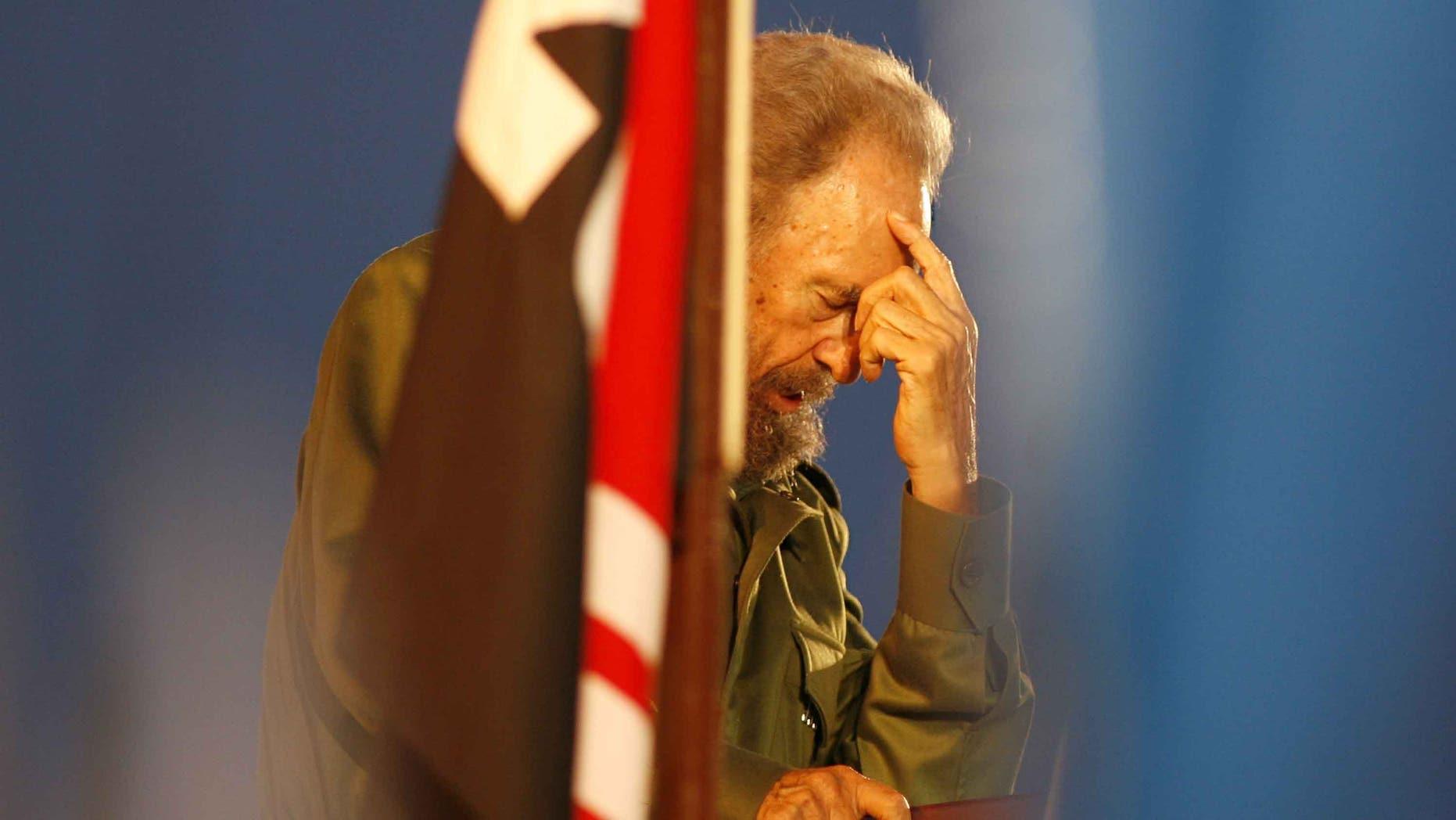 Cuban leader Fidel Castro in a July 26, 2006 file photo.