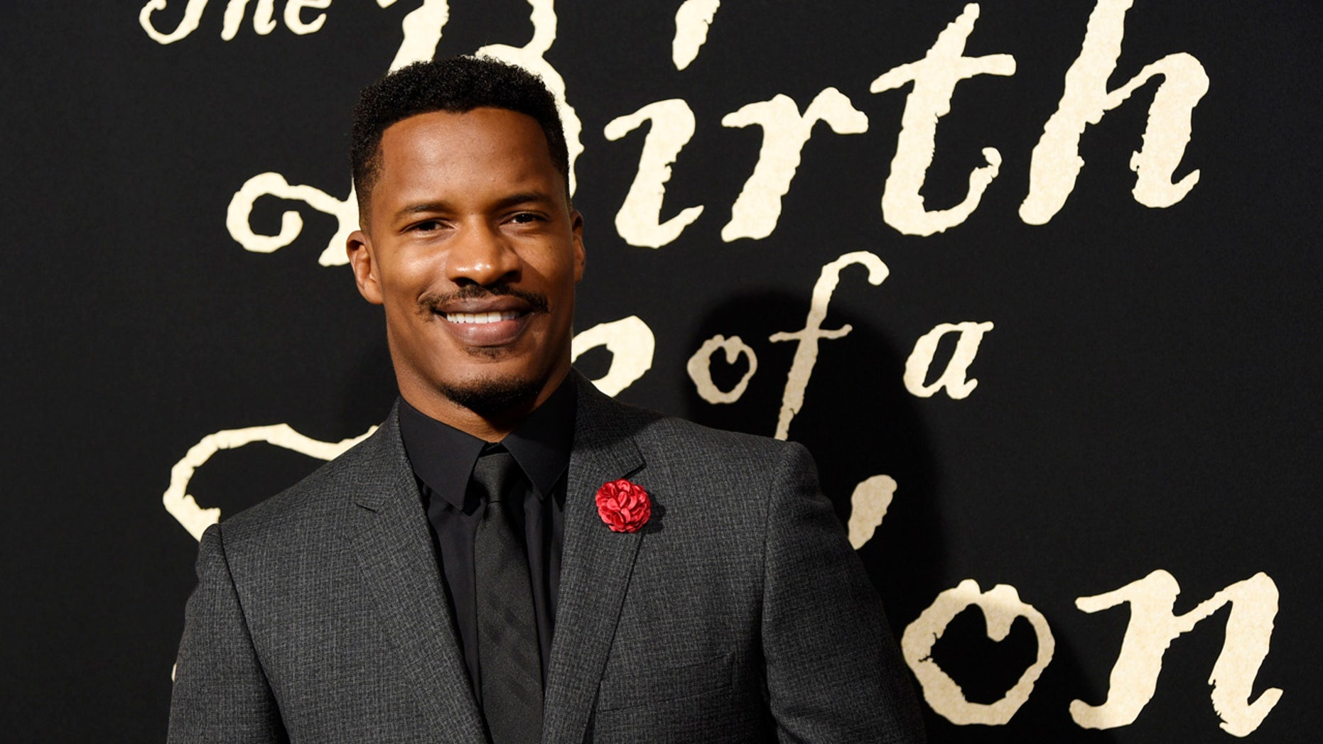 "Sept. 21, 2016: Nate Parker, the director, screenwriter and star of ""The Birth of a Nation,"" poses at the premiere of the film in Los Angeles."