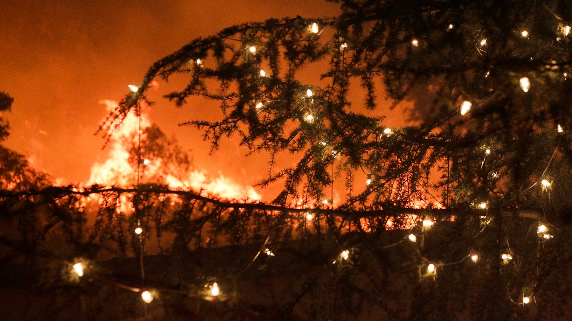 A Tennessee family's home caught on fire after leaving Christmas lights on all night.