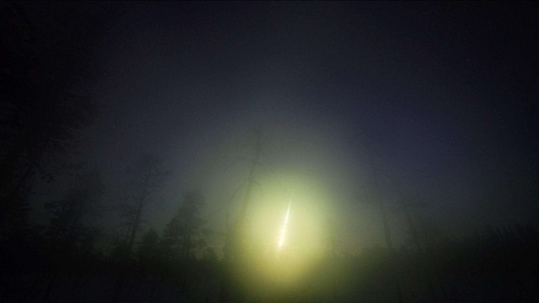 A picture of the Annama meteorite fireball over Russia's Kola Peninsula.