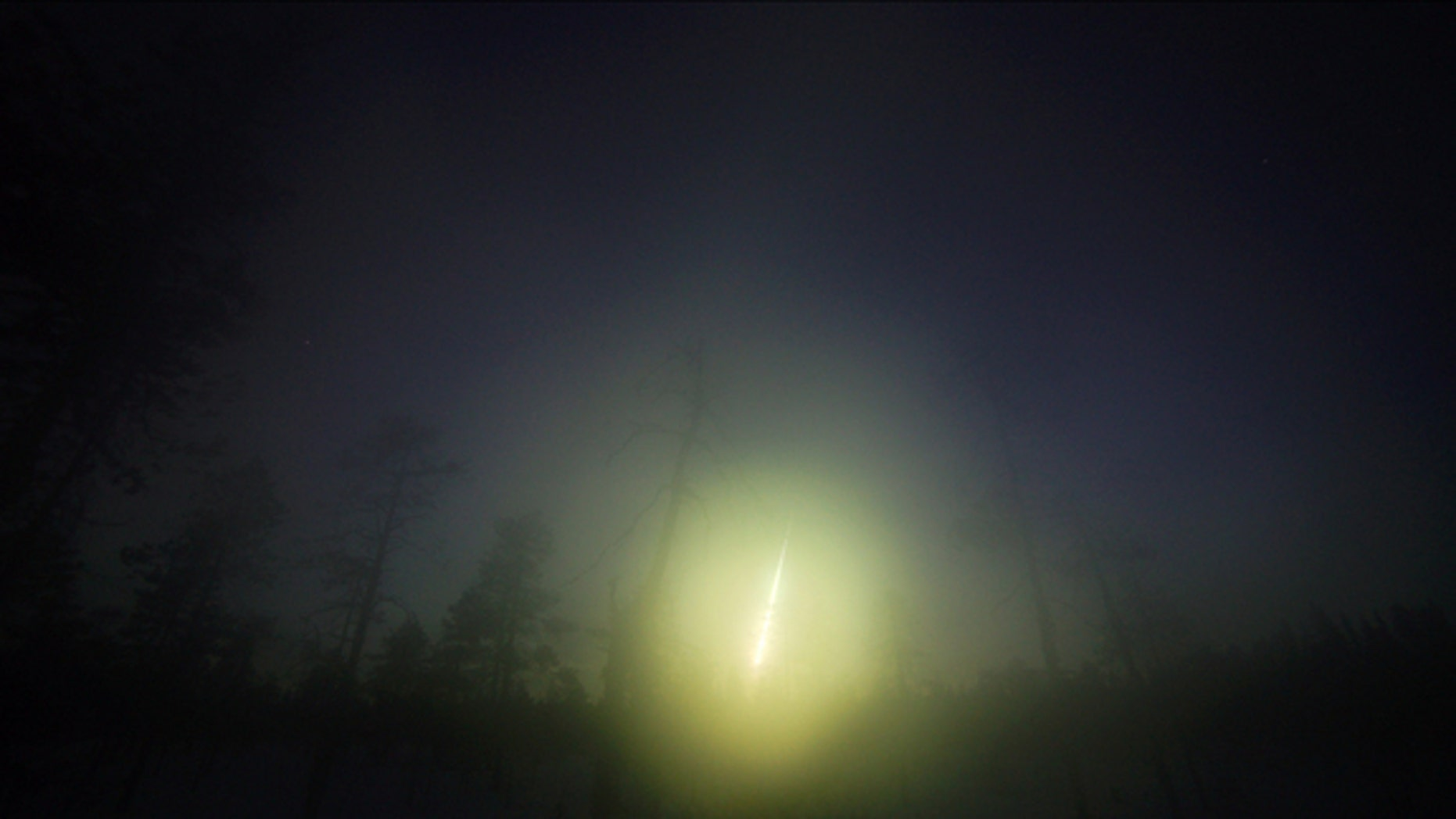 A picture of the Annama meteorite fireball over Russia's Kola Peninsula.
