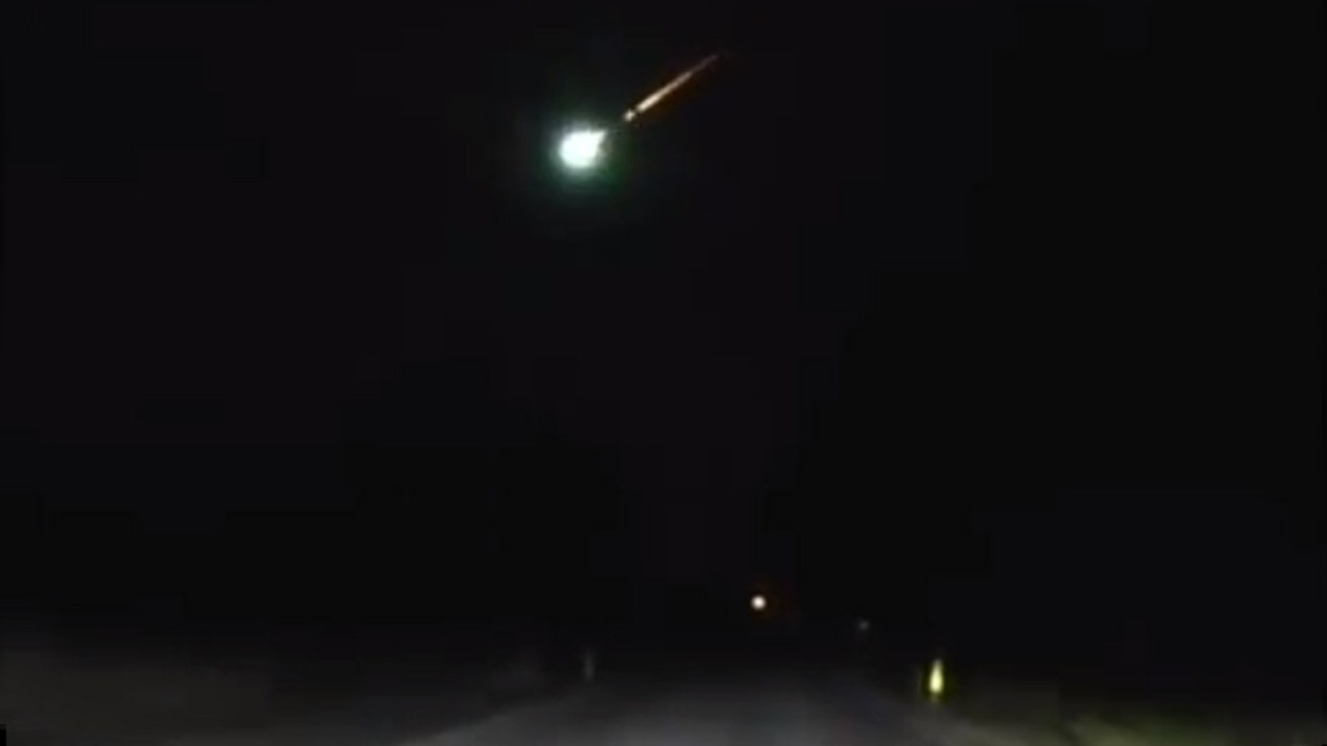 All eyes were on the evening sky Sunday as residents across nine Midwestern states reported seeing a fireball (like the one pictured above) fly by.