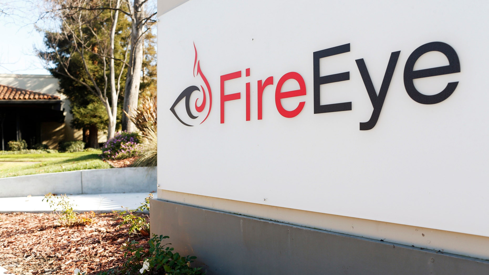 File photo - The logo for FireEye is seen outside of the company's offices in California, Dec. 29, 2014
