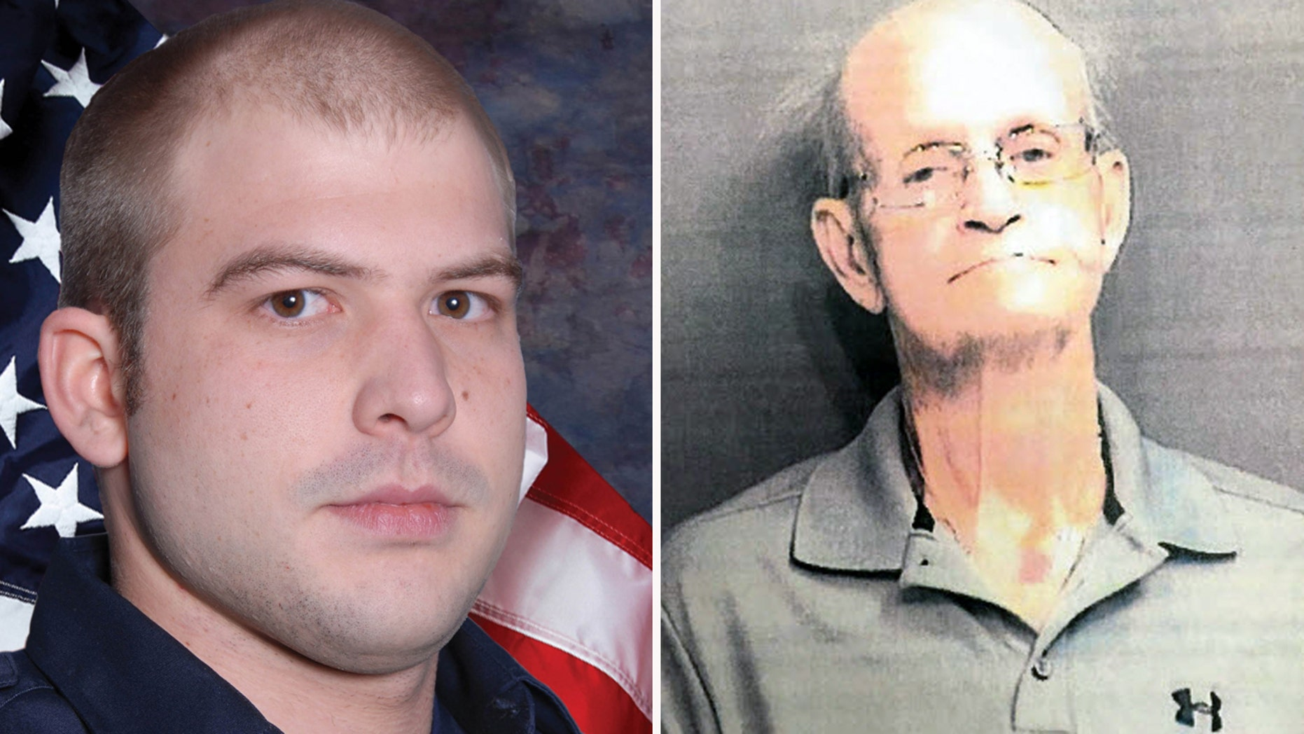 The undated photos at left shows Hamilton (Ohio) firefighter Patrick Wolterman, who died fighting a fire on Dec. 28, 2015. Homeowner Lester Parker, right, was arrested Dec. 12, 2016 and accused of aggravated arson and murder in the case.