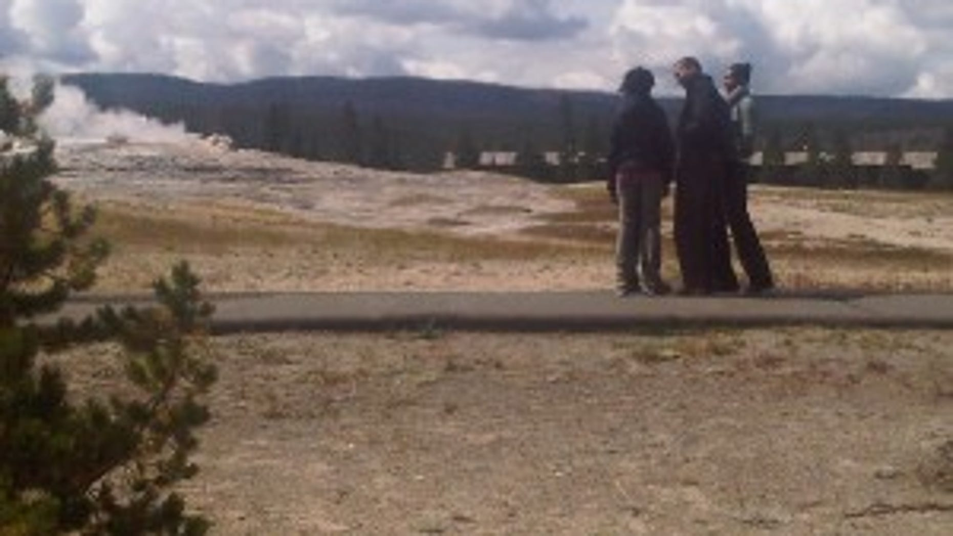 first family at old faithful-2
