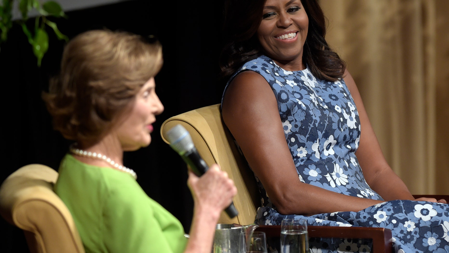 First lady Michelle Obama and former first lady Laura Bush