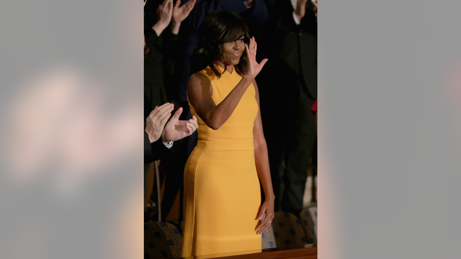 First lady Michelle Obama before President Obama's State of the Union speech on January 12, 2016.