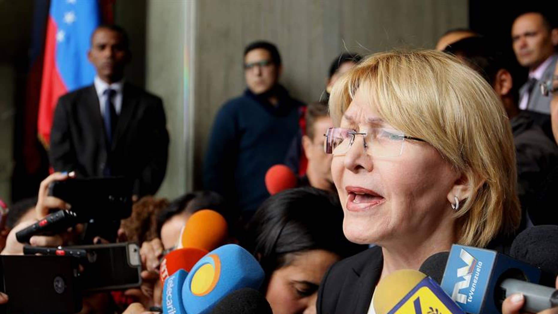 """Ortega Diaz is also accusing Maduro of """"destroying the legacy"""" of the late President Hugo Chavez."""