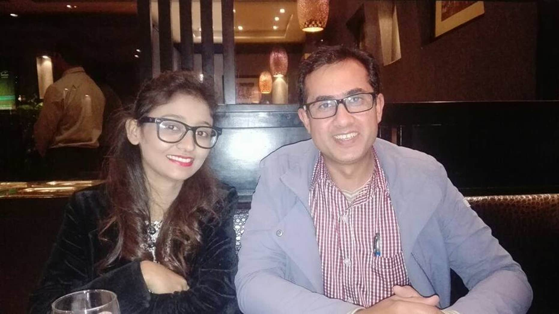 Fischel Benkhald (right) in Pakistan with BPCA officer Ambar Saroya.