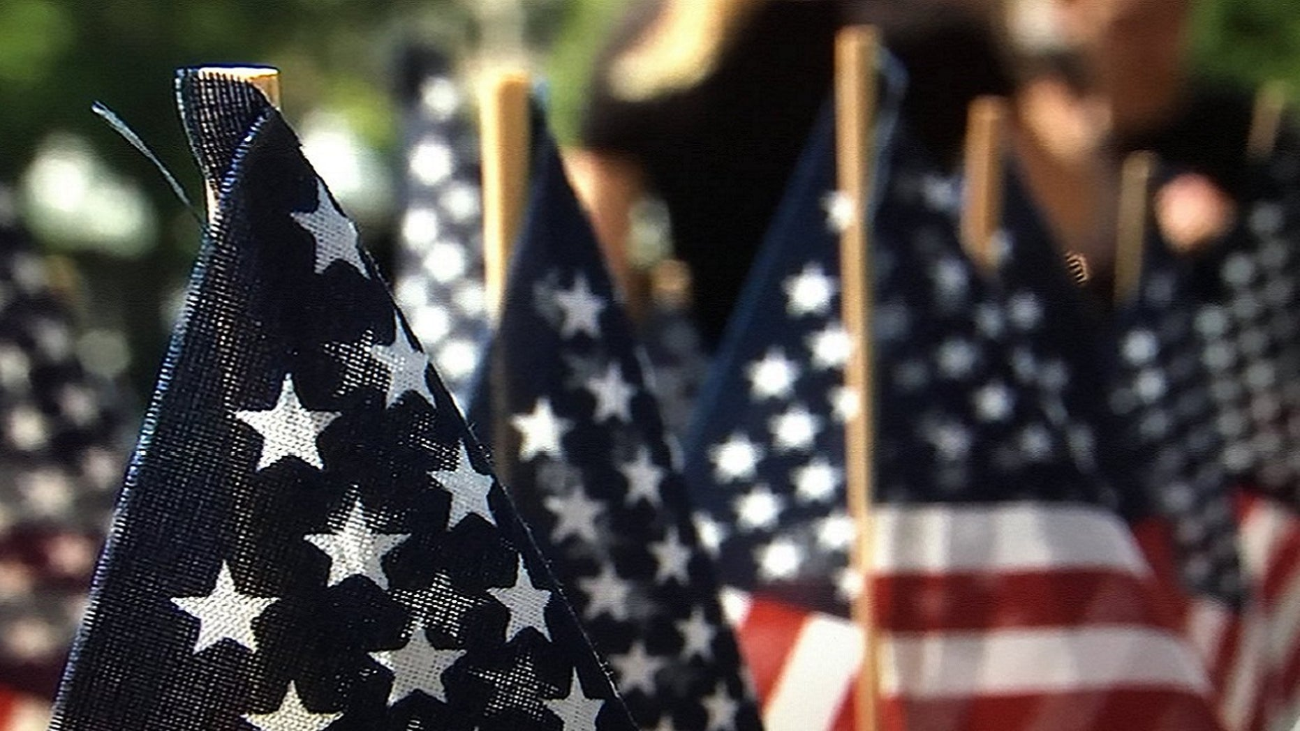 Thousands of flags were planted on Boston Common to honor fallen service members, May 23, 3018.