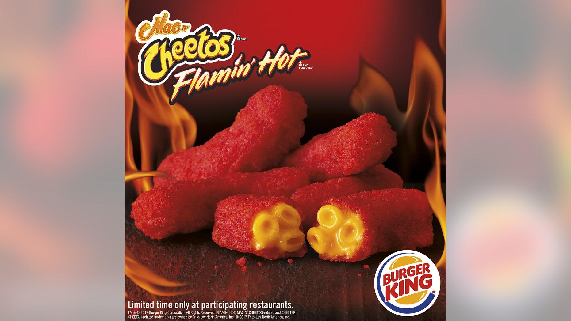 Burger King and Cheetos are teaming up once again to bring us Flamin' Hot Mac n' Cheetos.