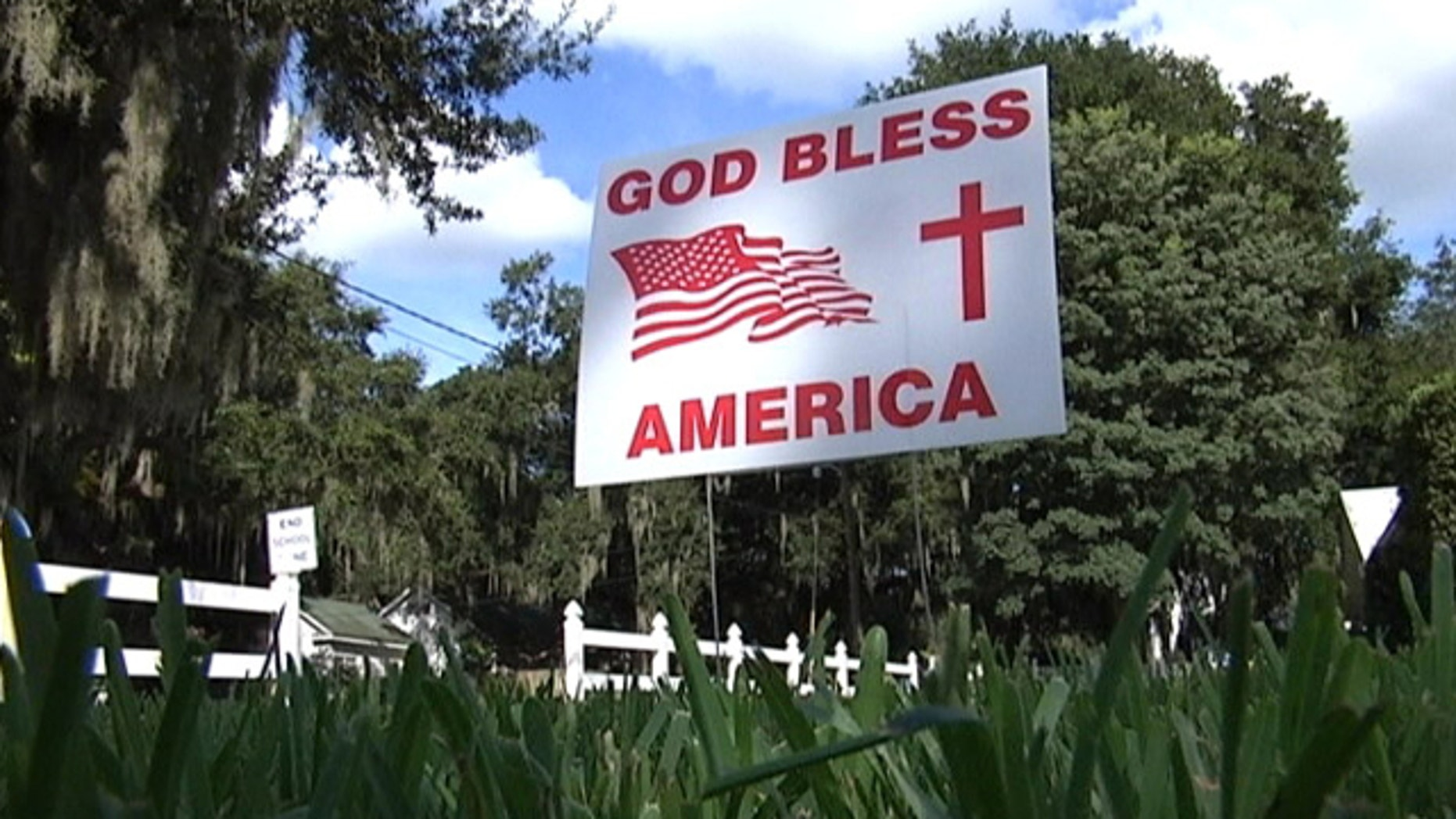 Florida city orders residents to remove 'God Bless America