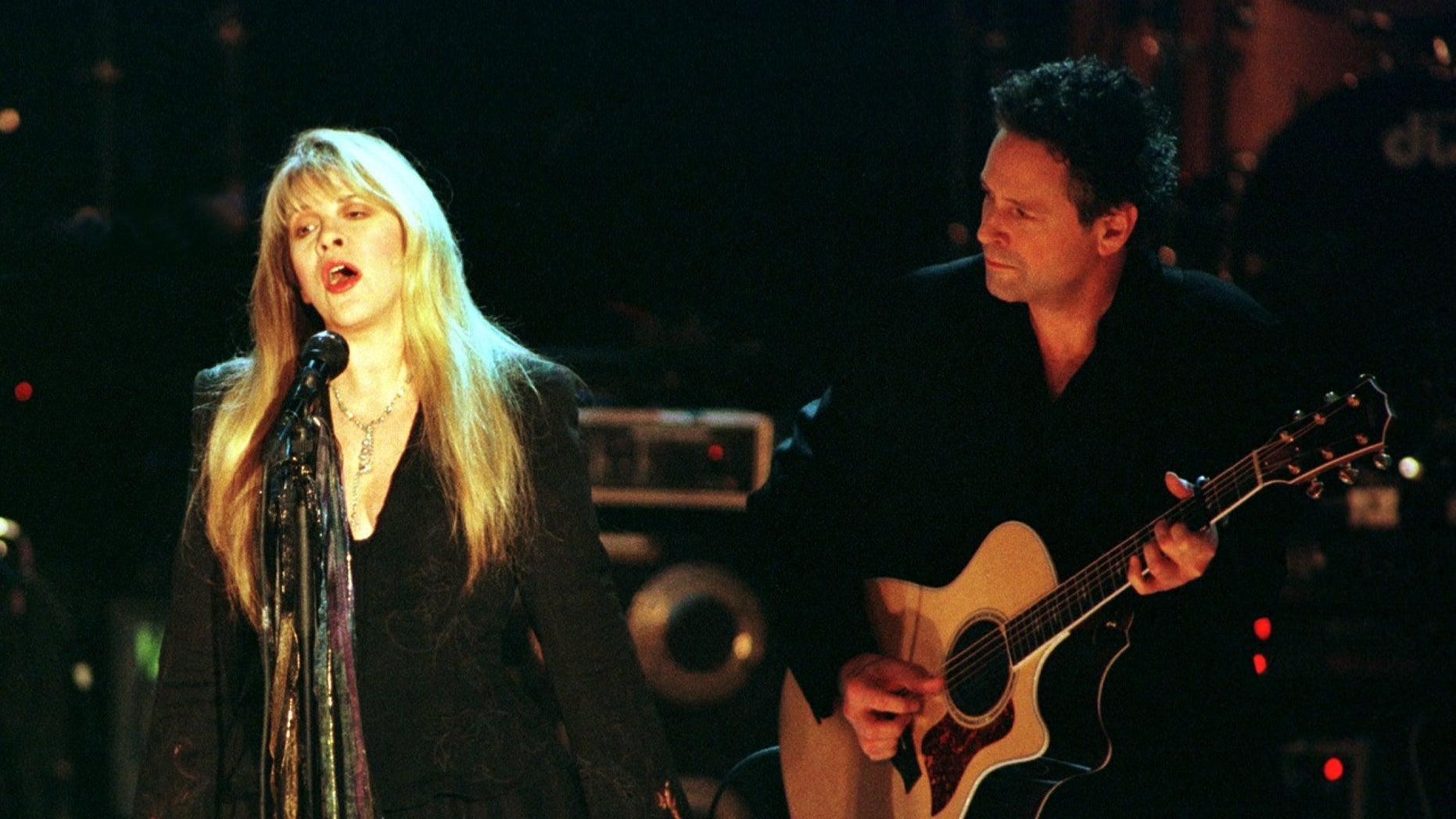 """A Fleetwood Mac tune from the 1977 album """"Rumors"""" is charting after it was part of a meme posted on Twitter late last month, Billboard reported Tuesday. Pictured are band members Stevie Nicks and Lindsey Buckingham."""