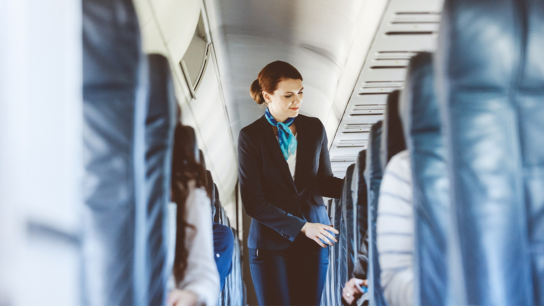 A stewardess for a British airline claims first-class passengers pay the flight attendants for sex.