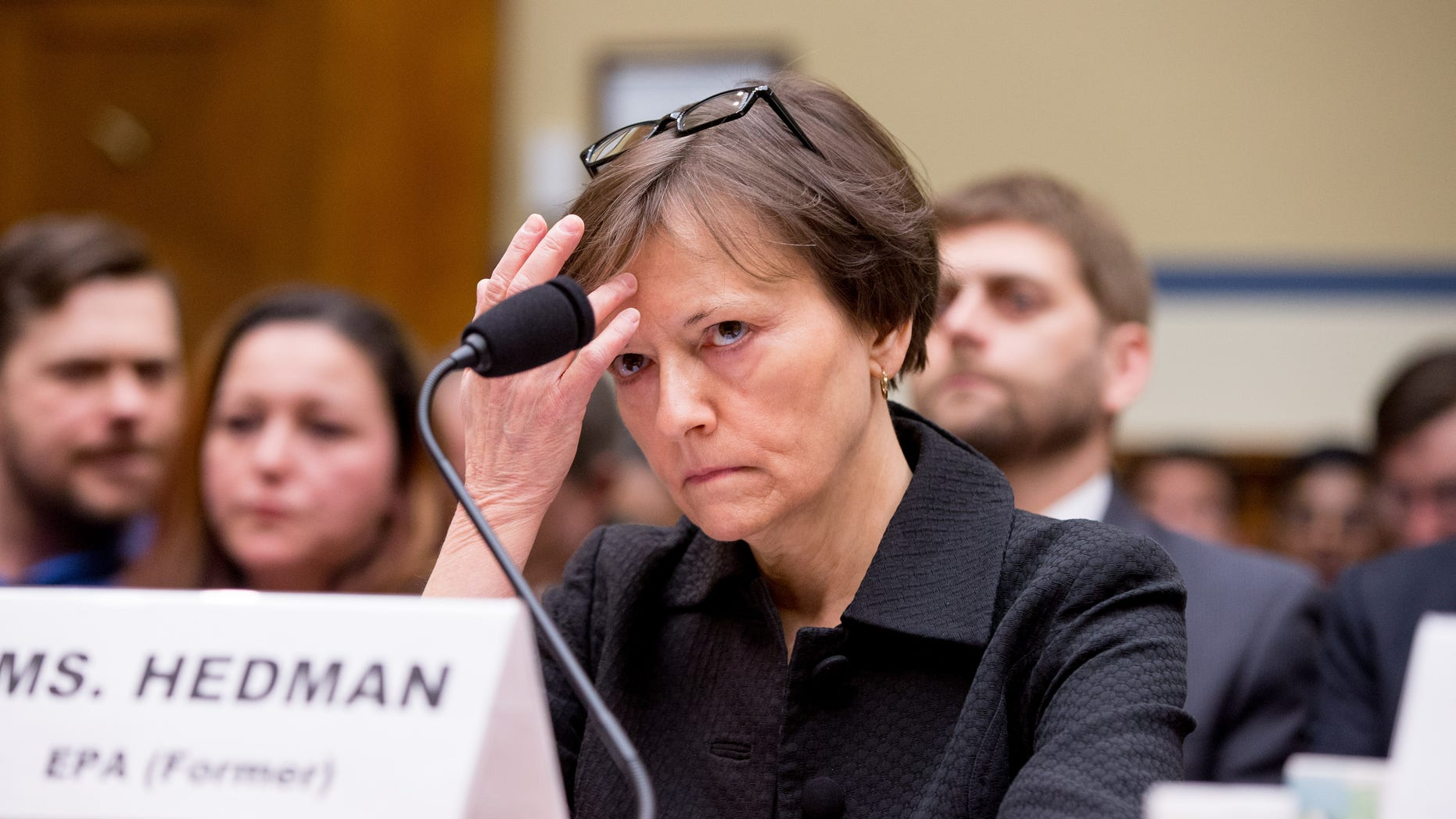 March 15, 2016: Former State EPA administrator Susan Hedman testifies before the House Oversight and Government Reform Committee, in Washington.