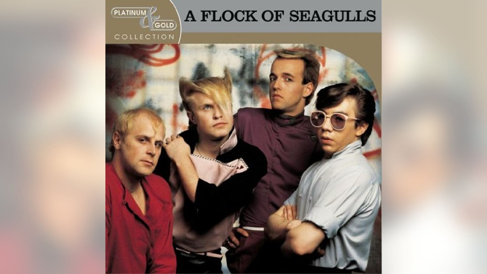 Flock of Seagulls' Platinum & Gold Collection album cover is shown.