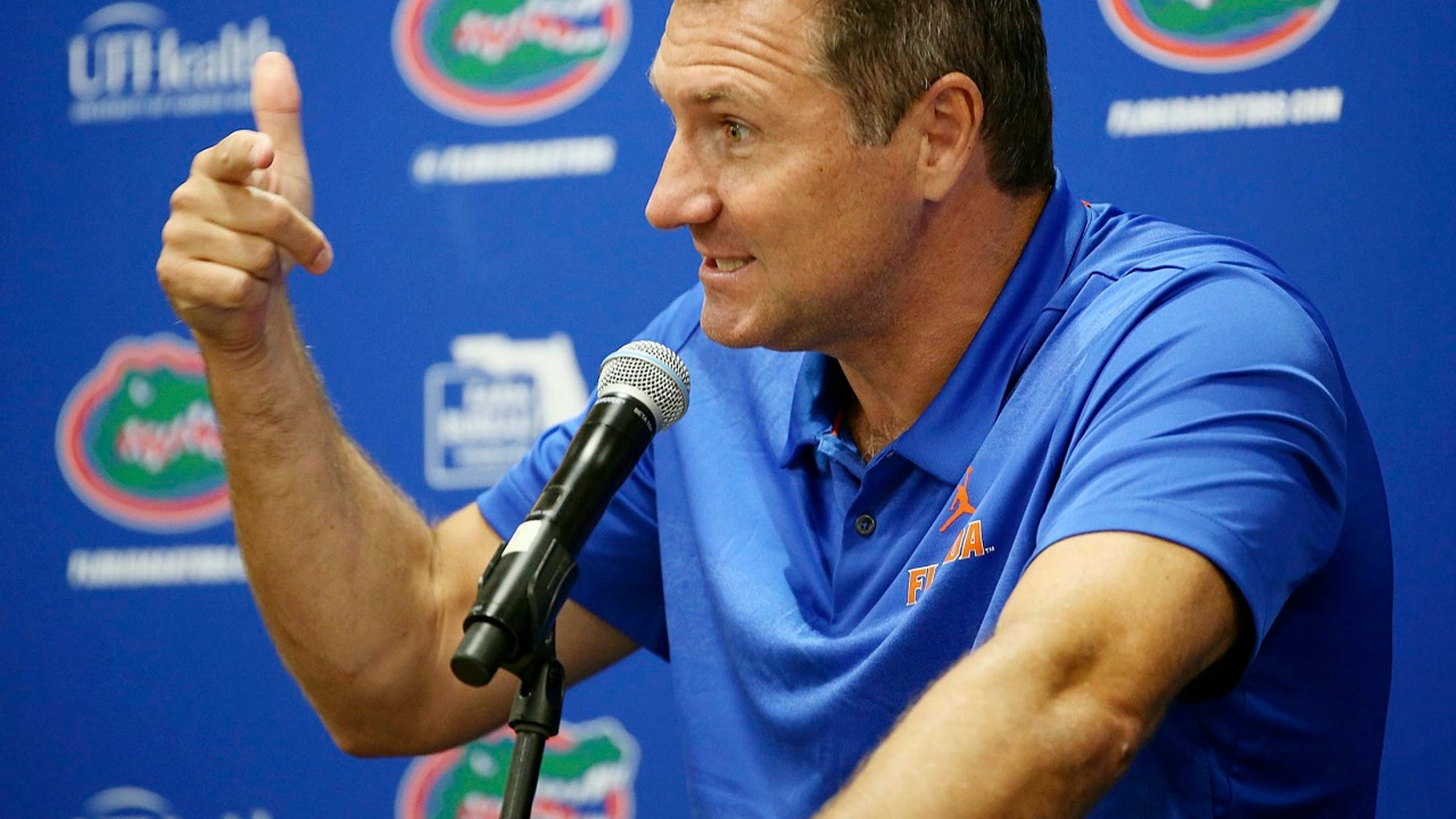 Florida Gators head coach Dan Mullen clarified his no-guns policy during a team media day on Thursday.
