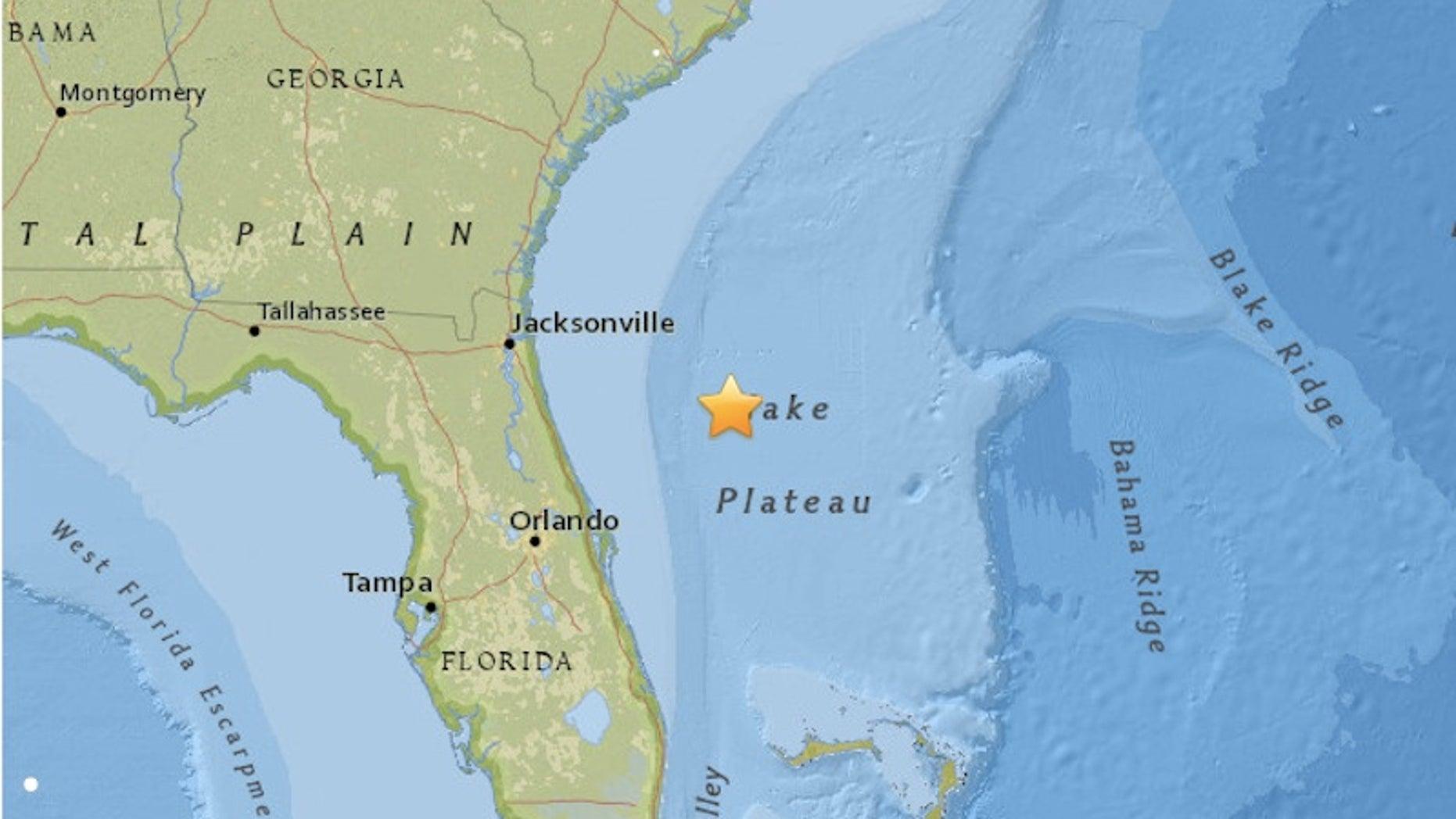A 3.7-magnitude earthquake struck off the coast of Florida on July 16, 2016.