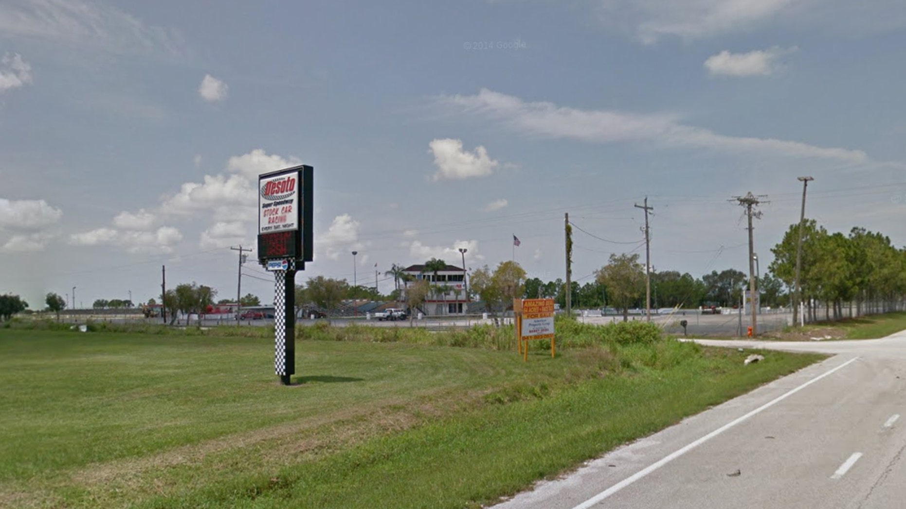 Desoto Speedway in Bradenton, Florida.
