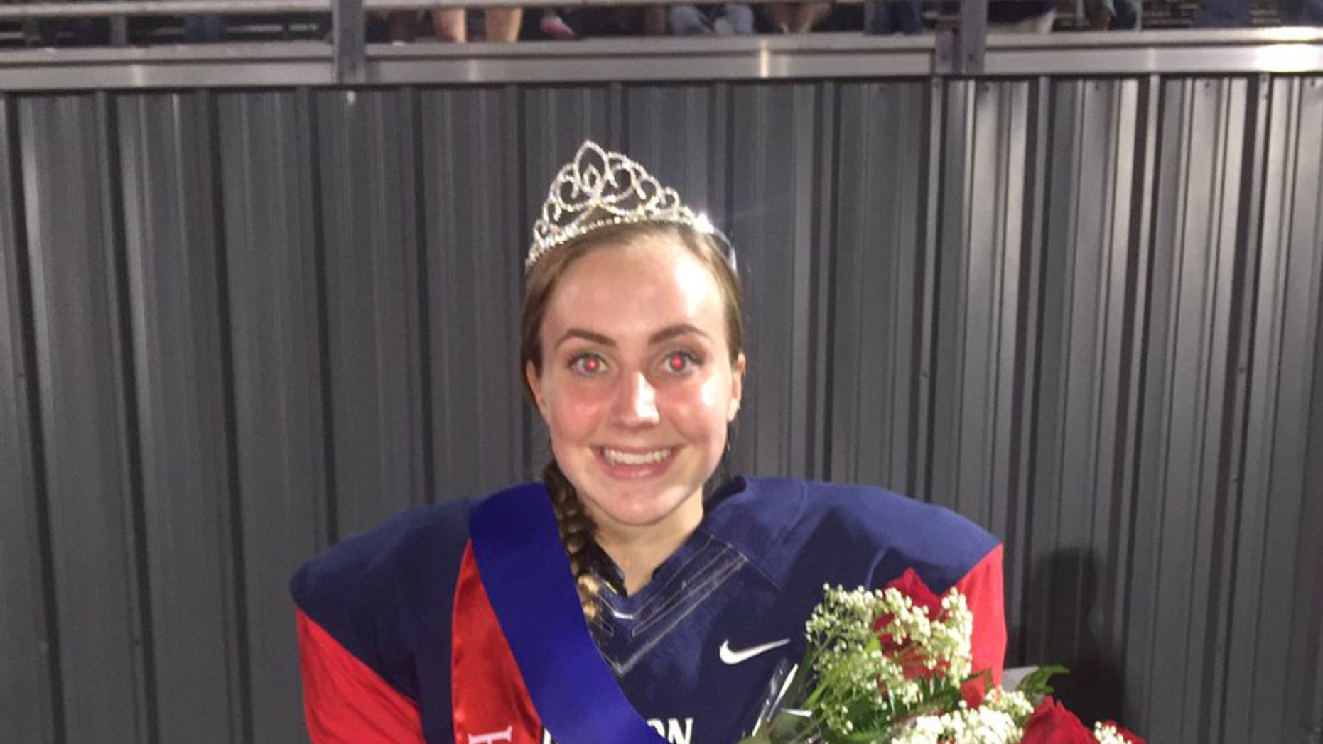 Claire Jeffress was named homecoming queen and kicked a game-winning field goal in October.