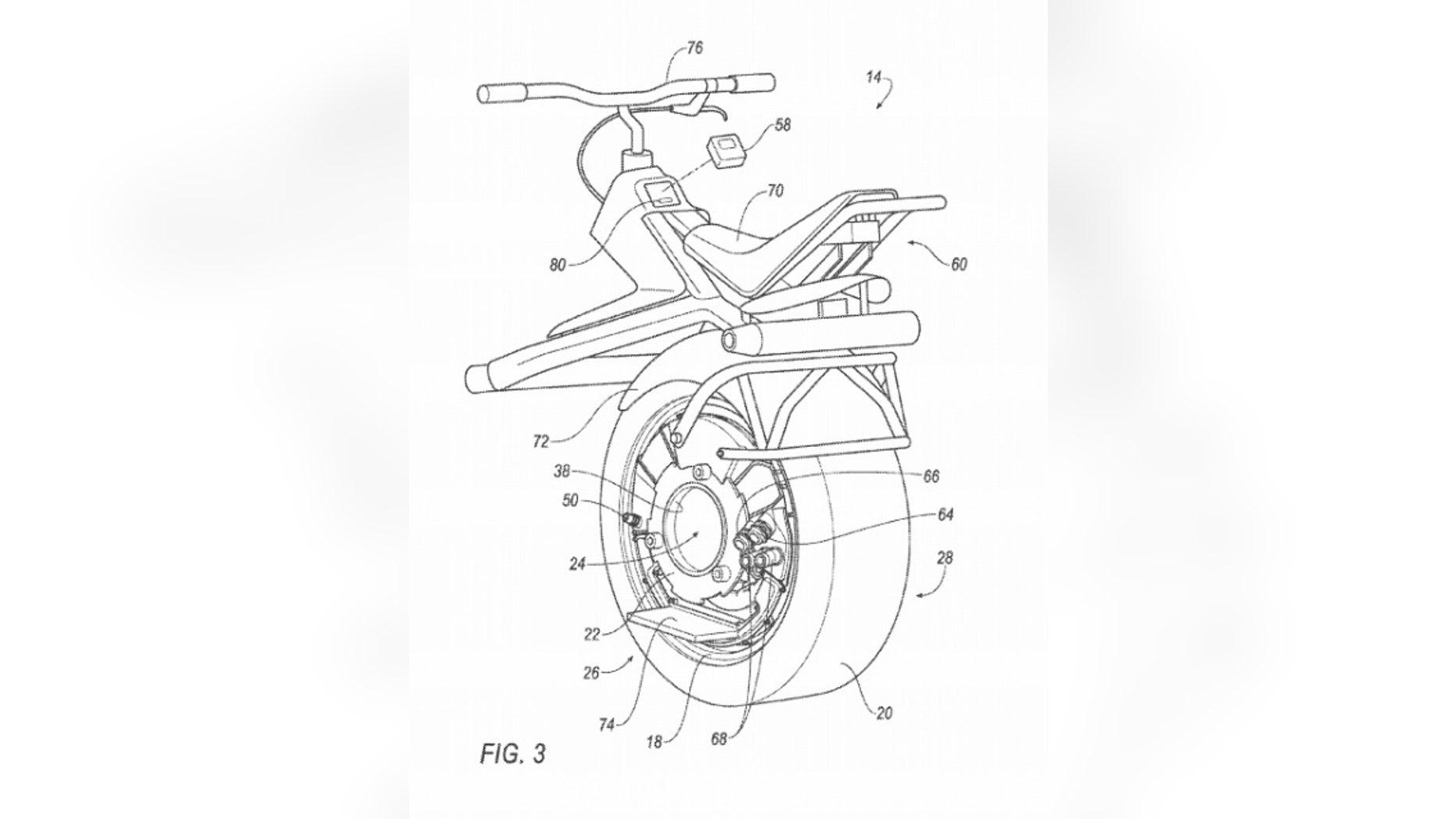 Ford's unicyle. (USPTO)
