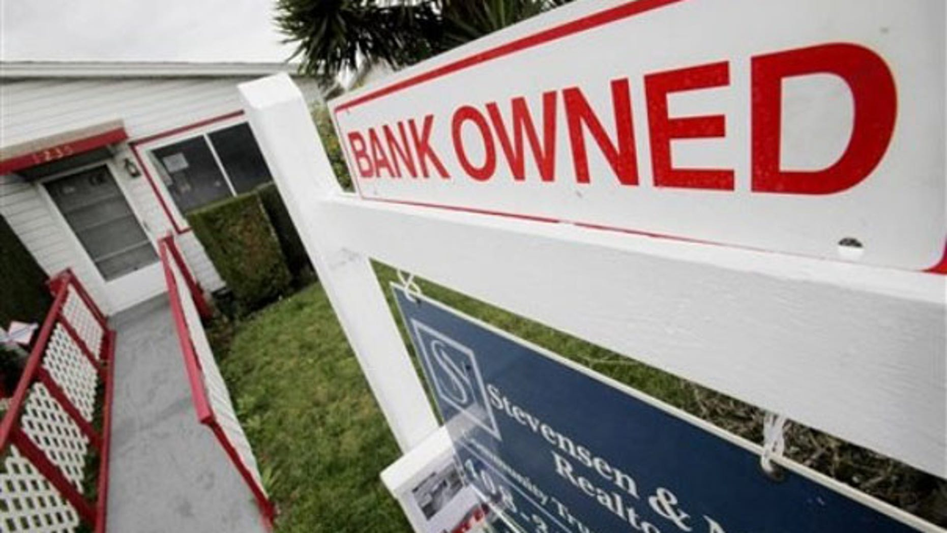 A foreclosed home is shown in East Palo Alto, Calif., Feb. 19. (AP Photo)