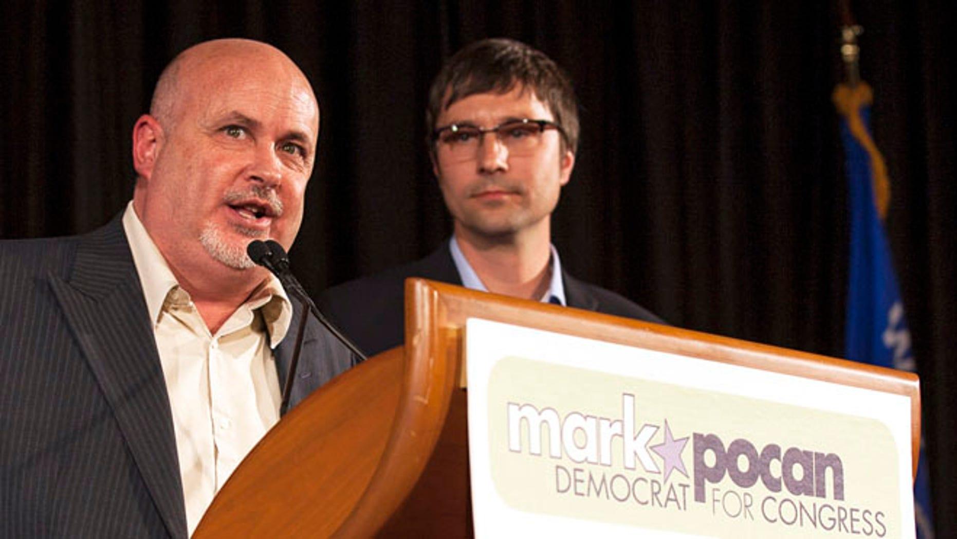 Nov. 6, 2012: Mark Pocan, D-Wisc., alongside his husband, Philip Frank in Madison, Wisconsin.