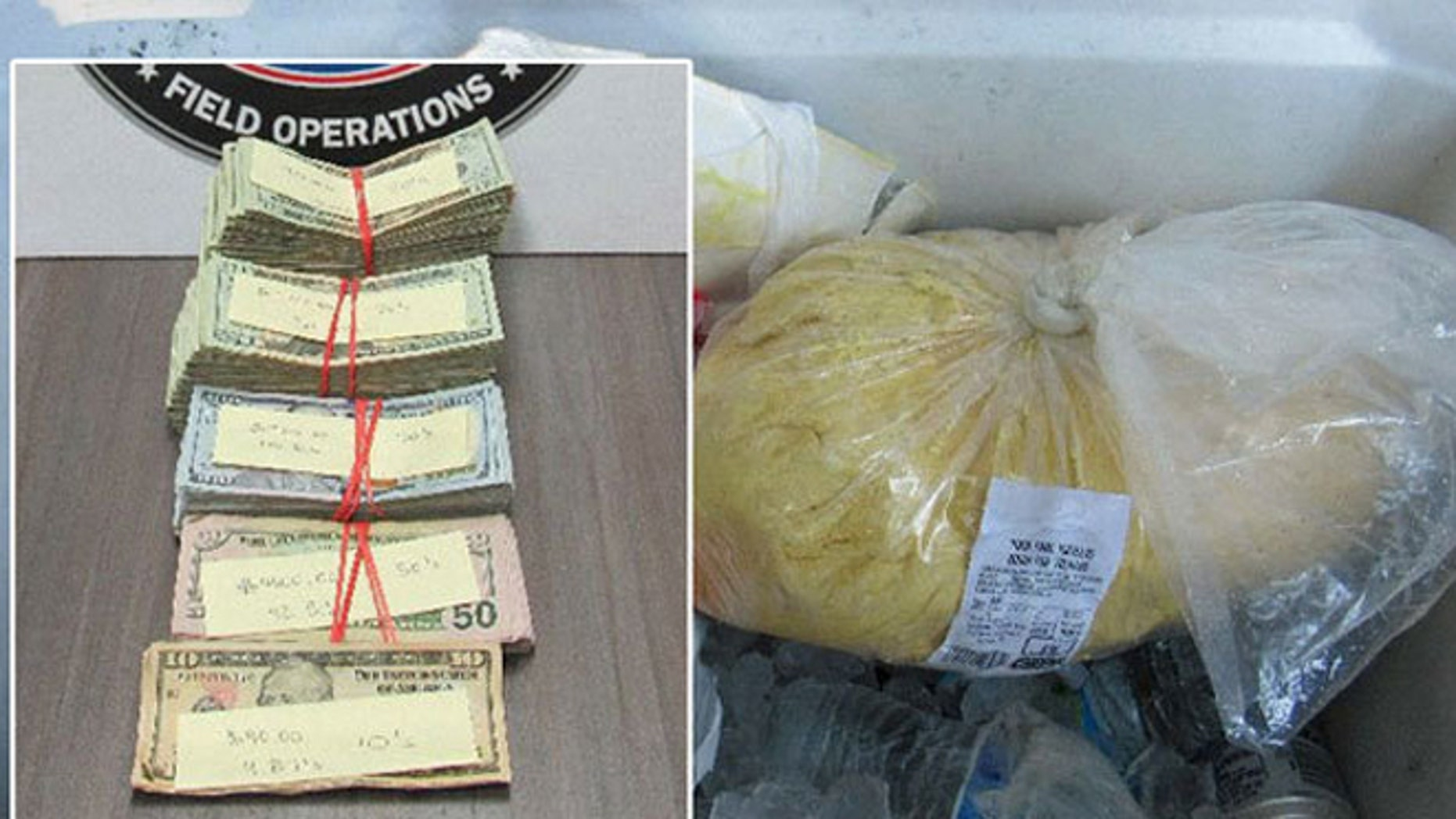 Border Patrol agents found $54,000 hidden inside tortilla dough.