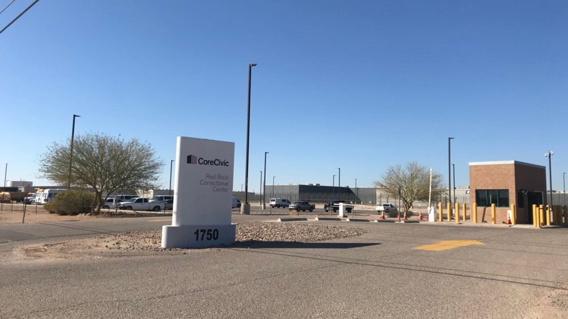 """Police in Arizona said a """"riot"""" broke out at the Red Rock Correctional Facility in Eloy, leaving 12 inmates and one guard injured."""