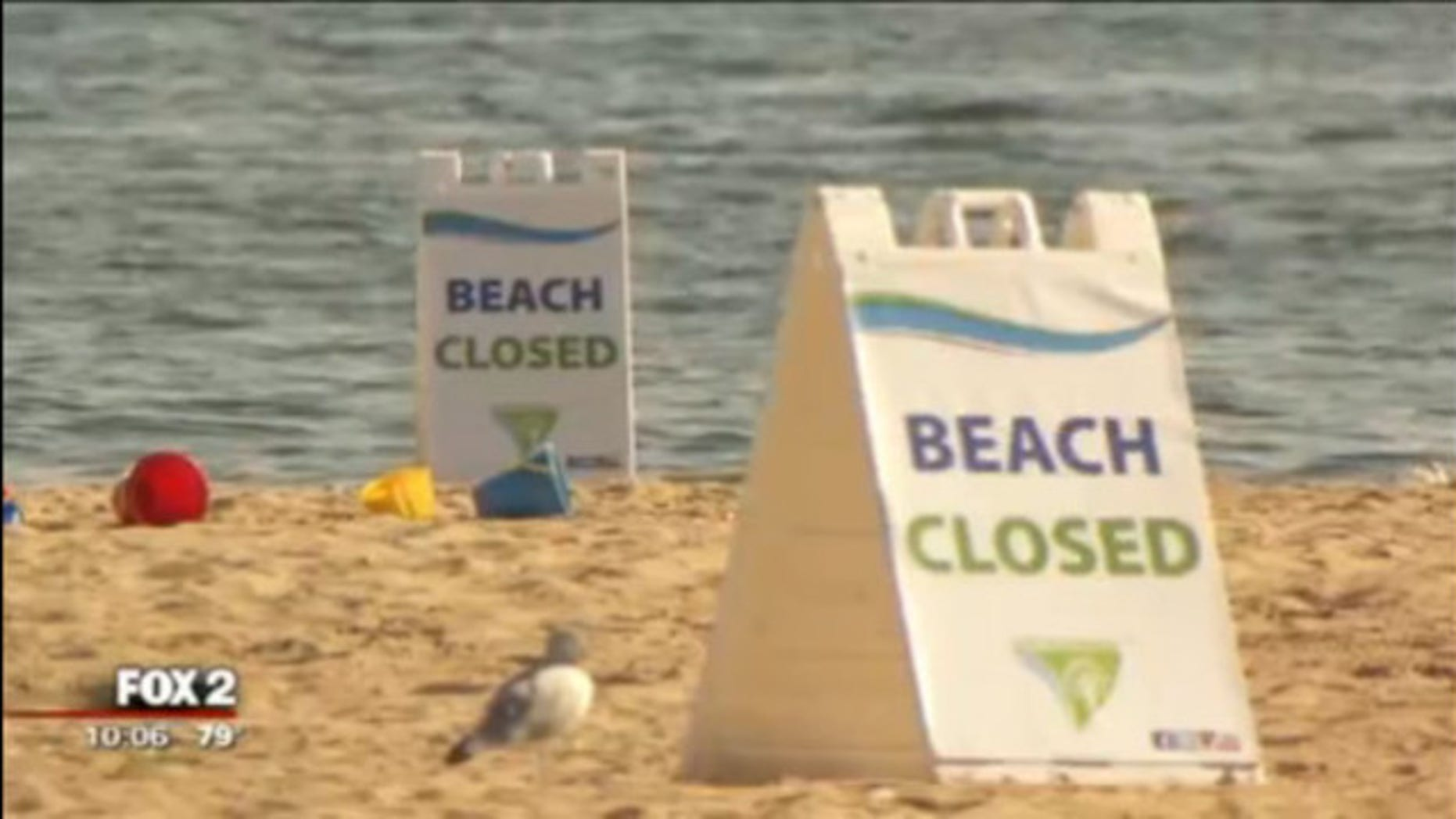 The beach at Lake St. Clair Metro Park will remained closed until levels return to normal.