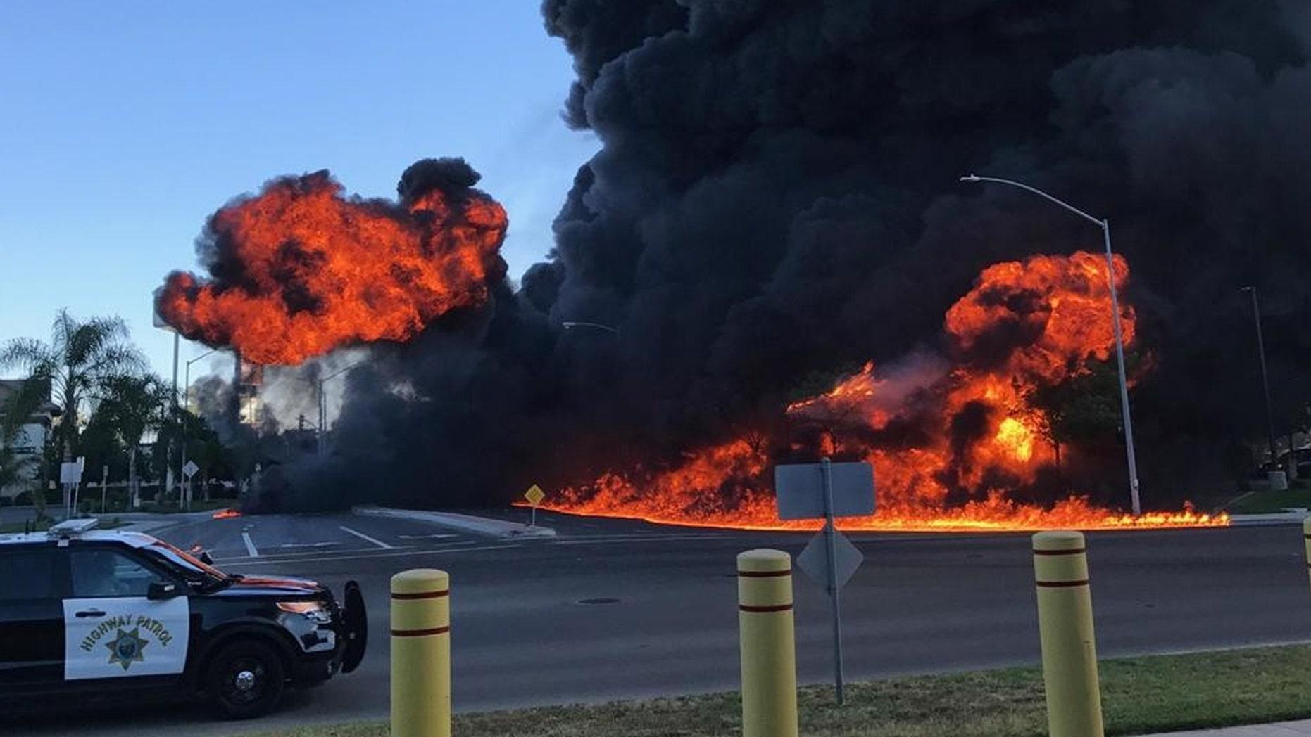 Atwater crash: One dead, massive fireball reported in