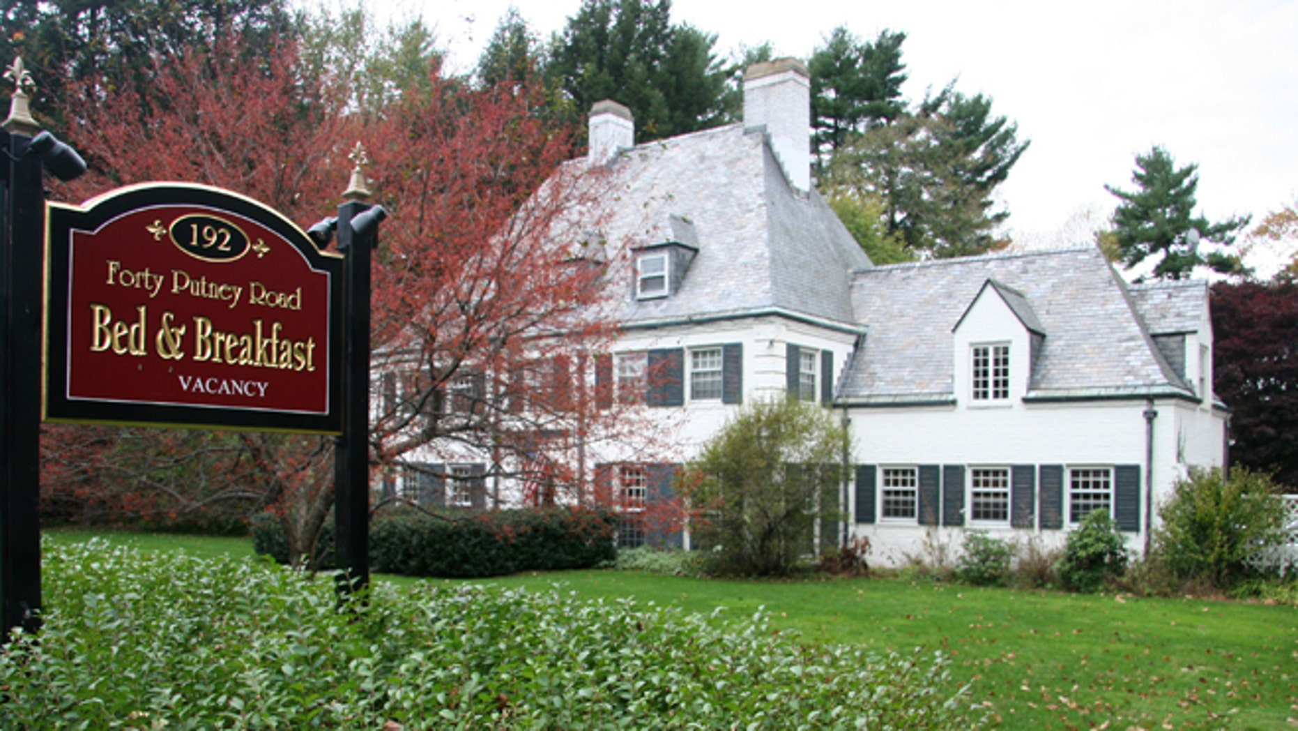 Forty Putney Road Bed and Breakfast is located on land that once belonged to the Vermont Asylum for the Insane.
