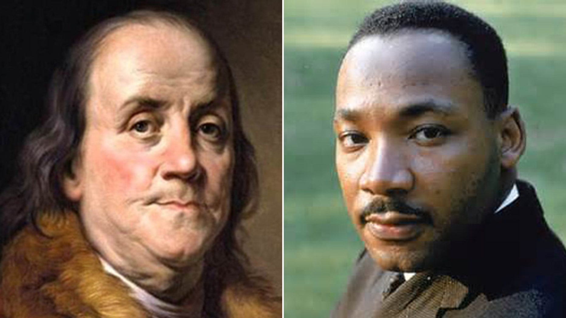 Neither Ben Franklin nor Martin Luther King Jr. make an appearance in the College Board's AP US History guidelines.