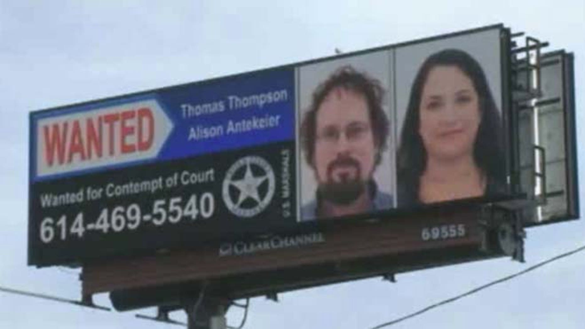 Jan. 27: This image shows the wanted billboard for fugitives Tommy Thompson and Alison Antekeier. The U.S. Marshals Service captured former fugitive Tommy Thompson at a Hilton hotel in West Boca Raton. Thompson had been on the lam for two years, accused of cheating investors out of their share of $50 million in gold bars and coins he had recovered from the 19th century shipwreck S.S. Central America.