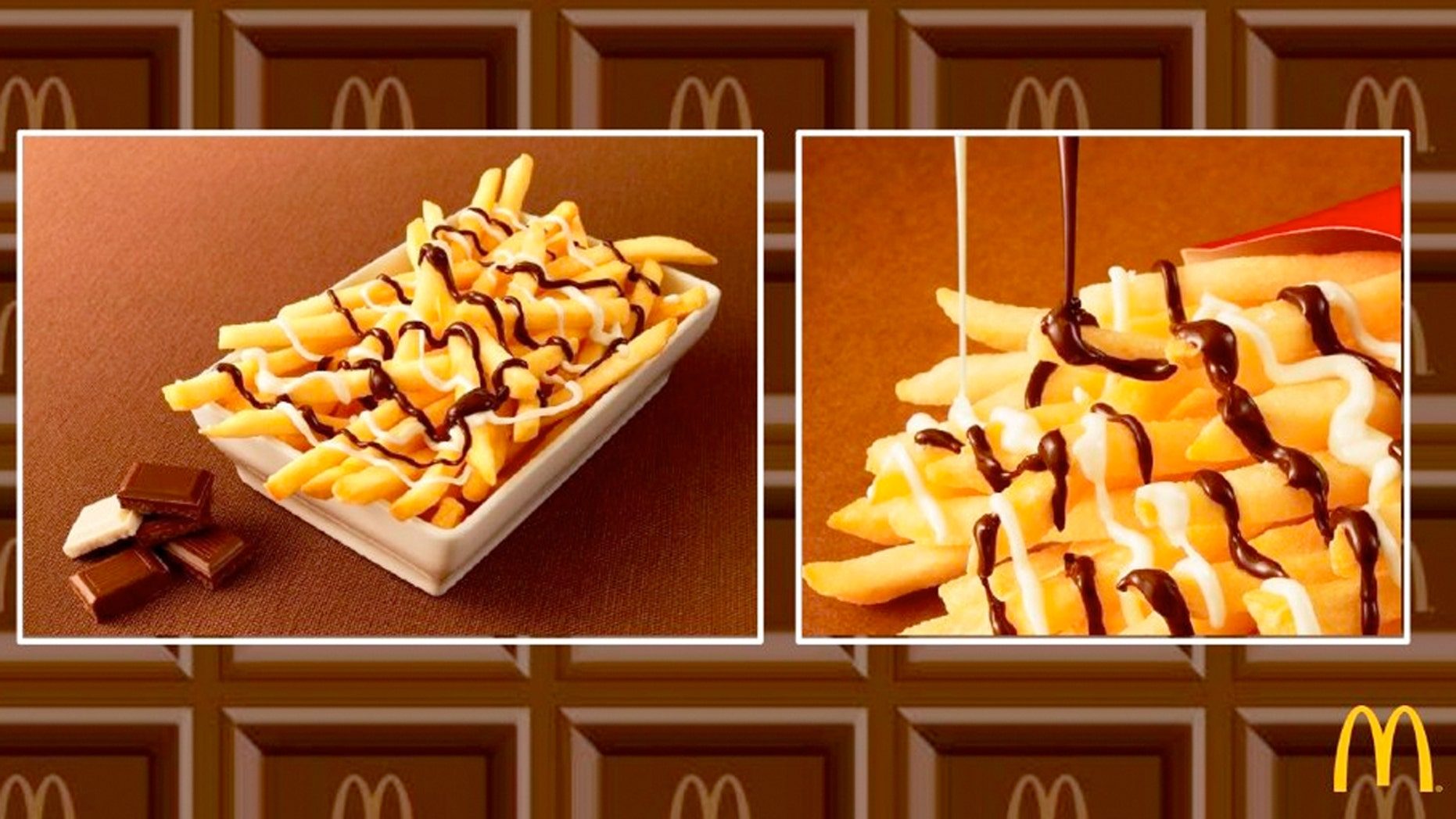 McChoco Potato is a limited-time menu item at locations in Japan staring January 26.