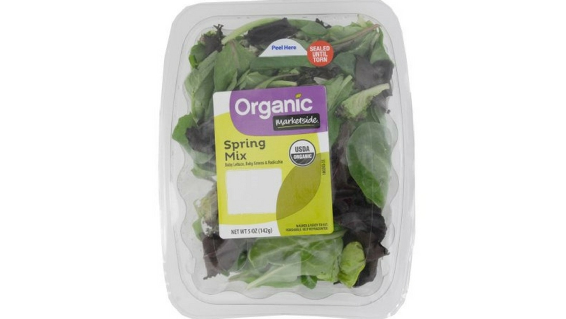Fresh Express recalled its Organic Marketside Spring Mix after a two people found a dead bat in one of its packages, the CDC said. (Walmart)