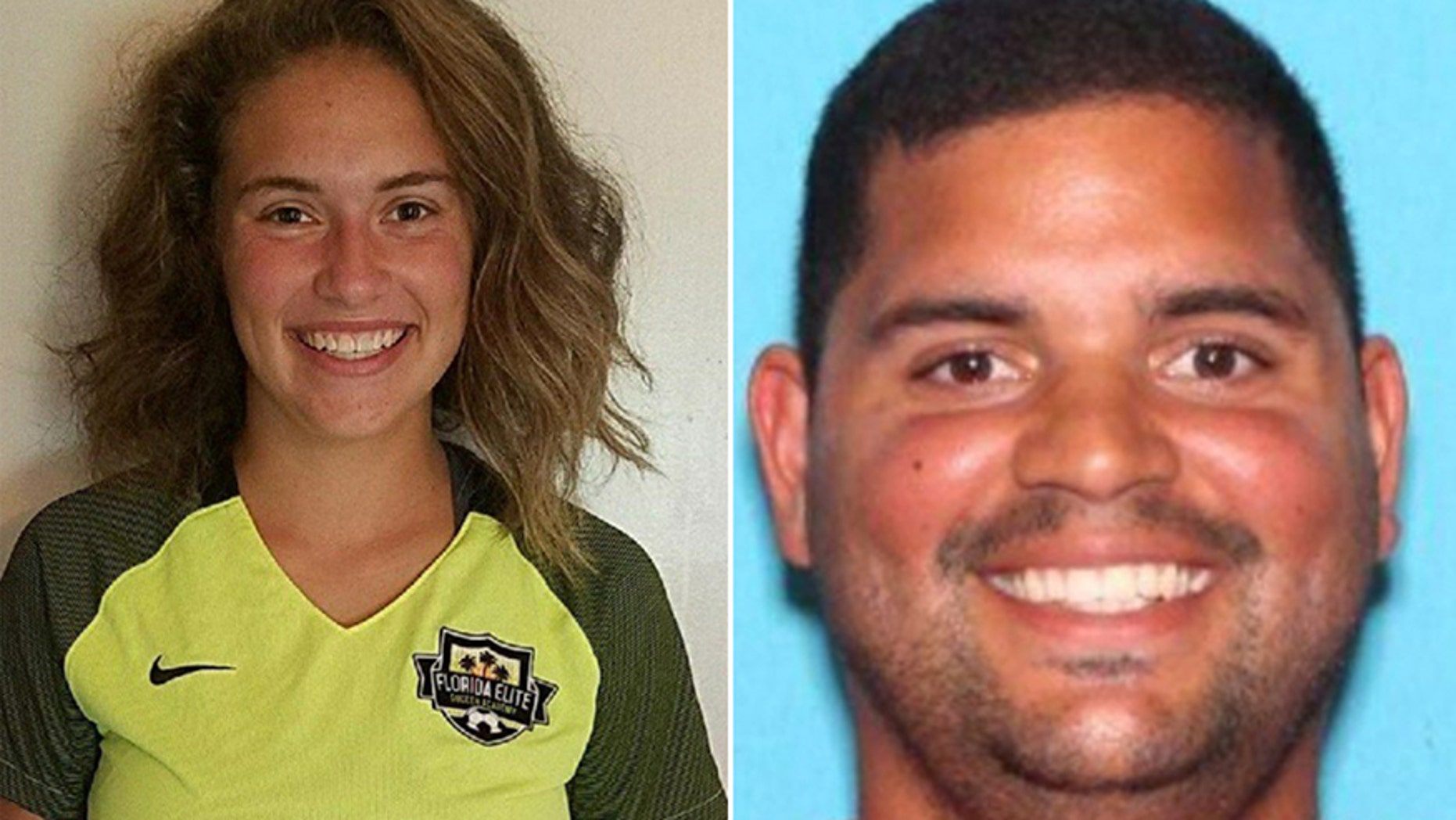 Caitlyn Frisina, left, was found in Syracuse, N.Y. with Rian Rodriguez, right, on Dec. 1.