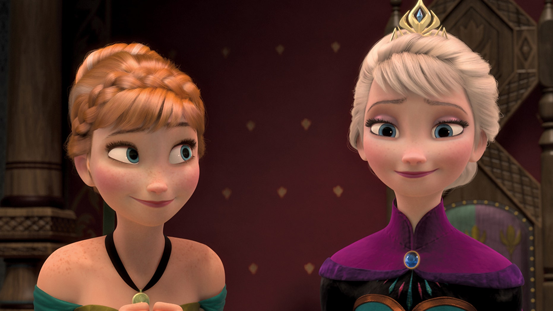 FROZEN -When the newly crowned Queen Elsa accidentally uses her power to turn things into ice to curse her home in infinite winter, her sister, Anna, teams up with a mountain man, his playful reindeer, and a snowman to change the weather condition. (Disney)ANNA, ELSA