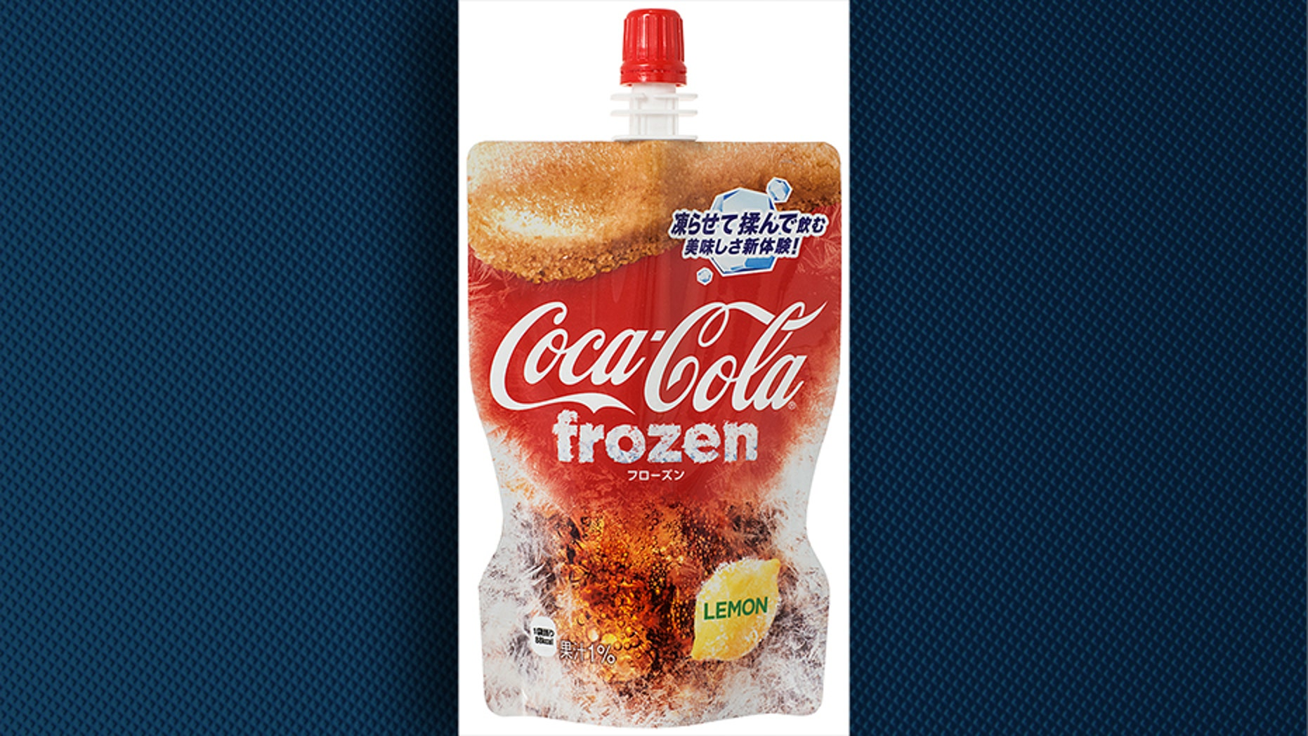 Coca-Cola Japan says the frozen Coca-Cola pouches have actually been in development for eight years and went through 100 prototypes before landing on this design and formula.