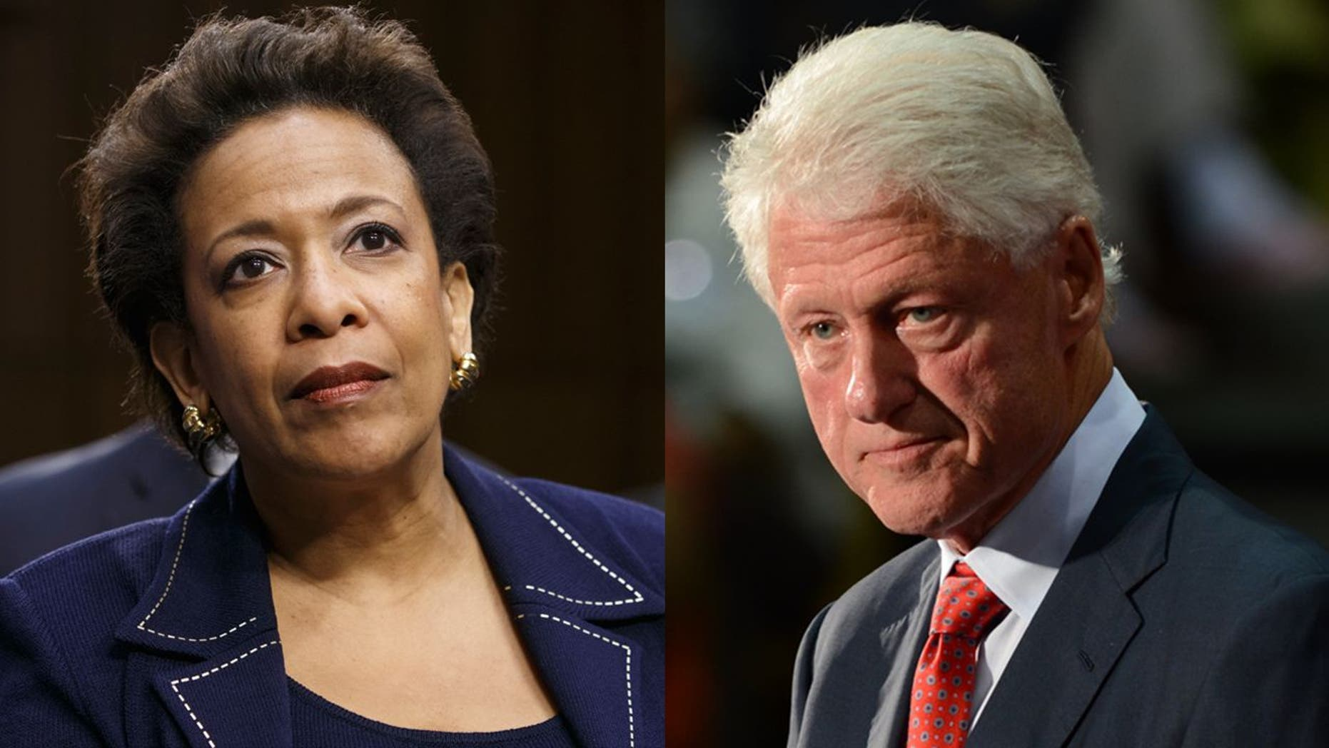 "Former President Bill Clinton (right) was ""offended"" by the widespread criticism of his June 2016 tarmac meeting with then-Attorney General Loretta Lynch (left)"